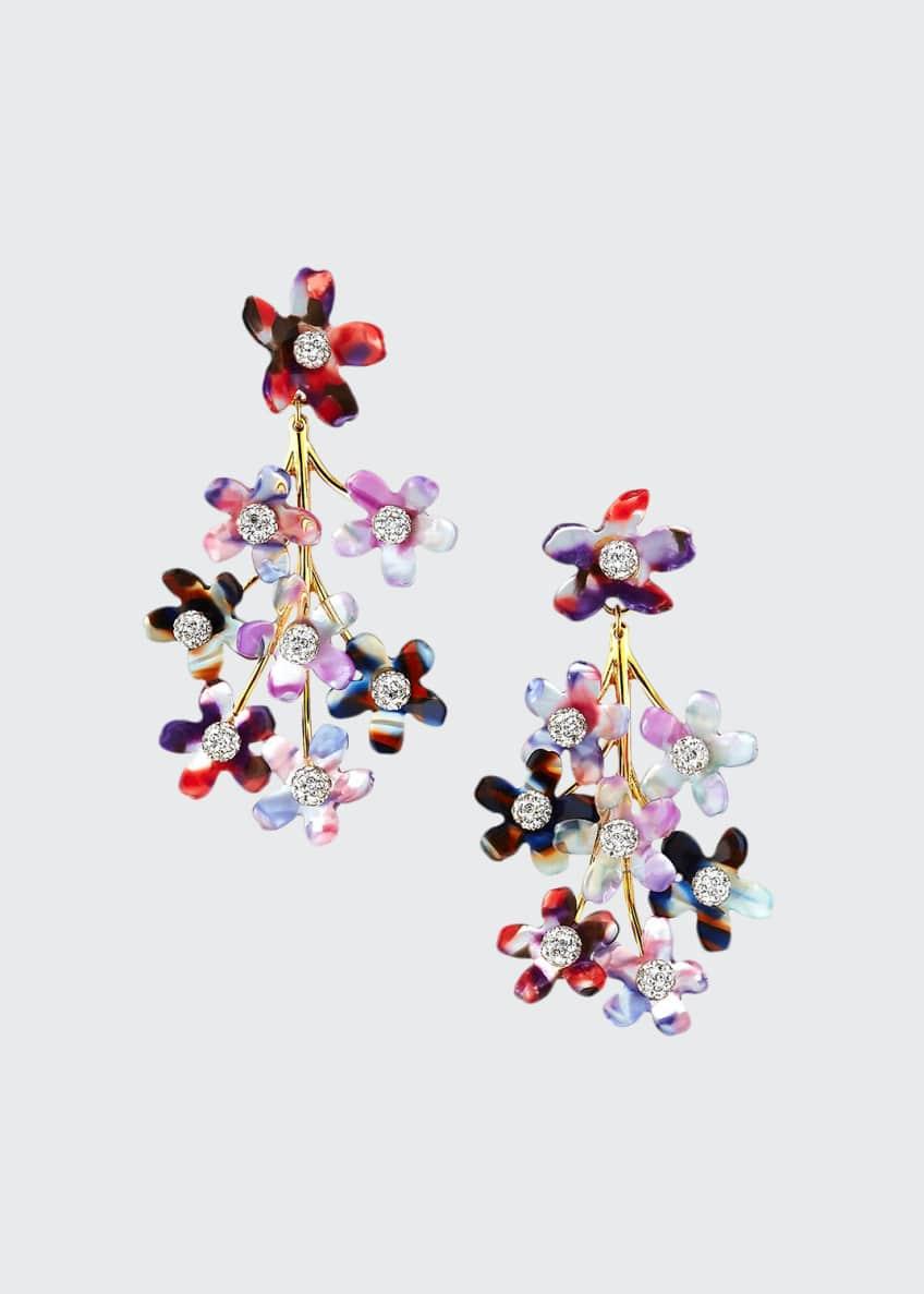 Lele Sadoughi Garden Bouquet Chandelier Earrings