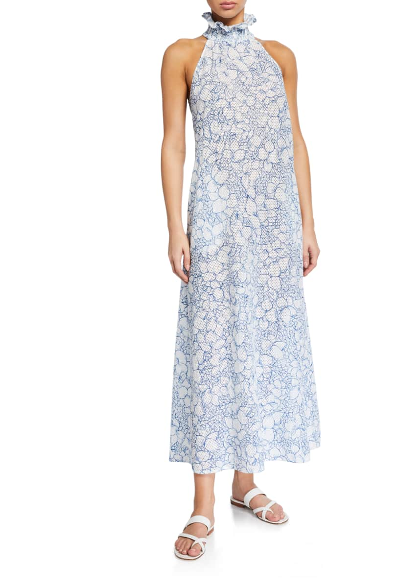 Marysia Euboea Floral High-Neck Coverup Dress