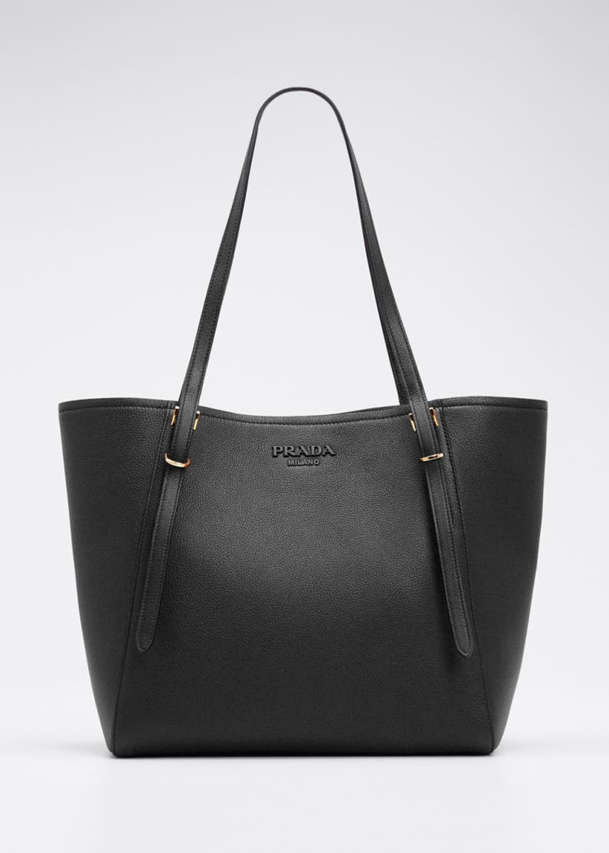 Prada Vitello Grain Leather Tote Bag