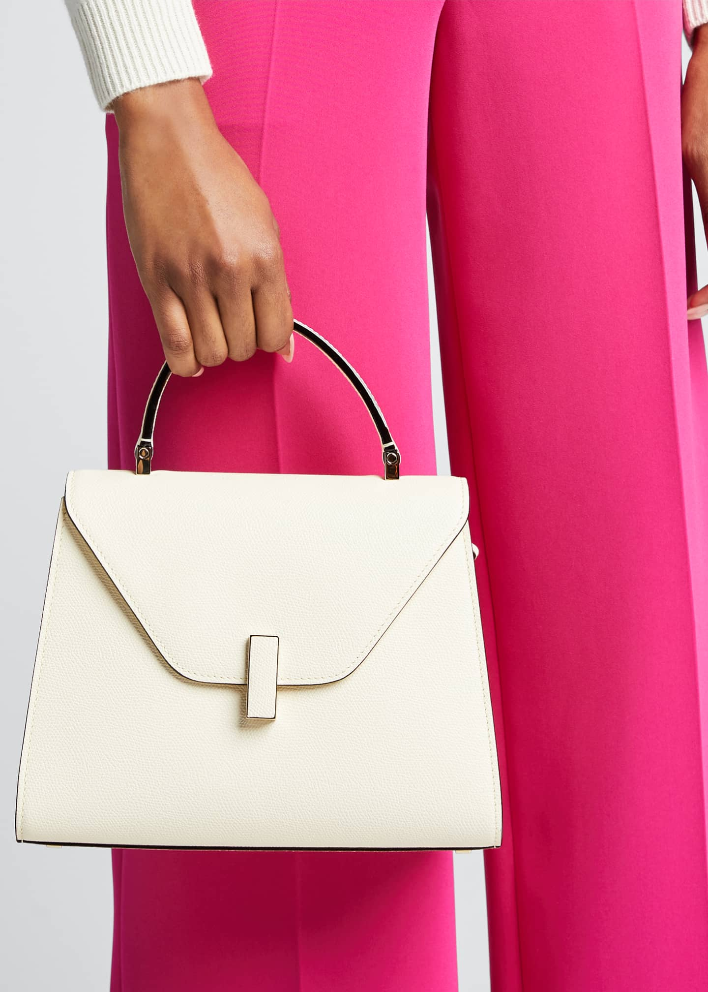 Valextra Iside Medium Leather Top-Handle Bag   Bergdorf Goodman