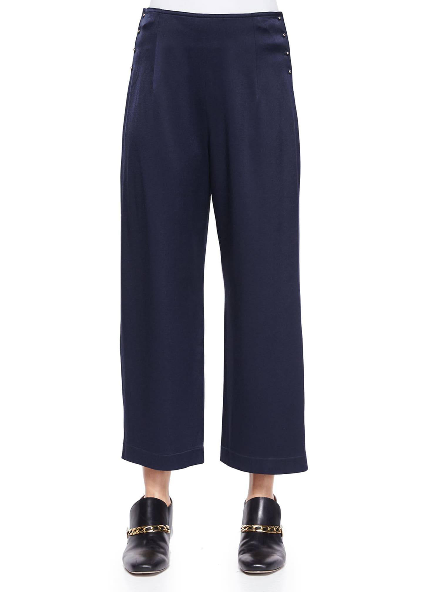 10 Crosby Derek Lam High-Waist Cropped Trousers W/