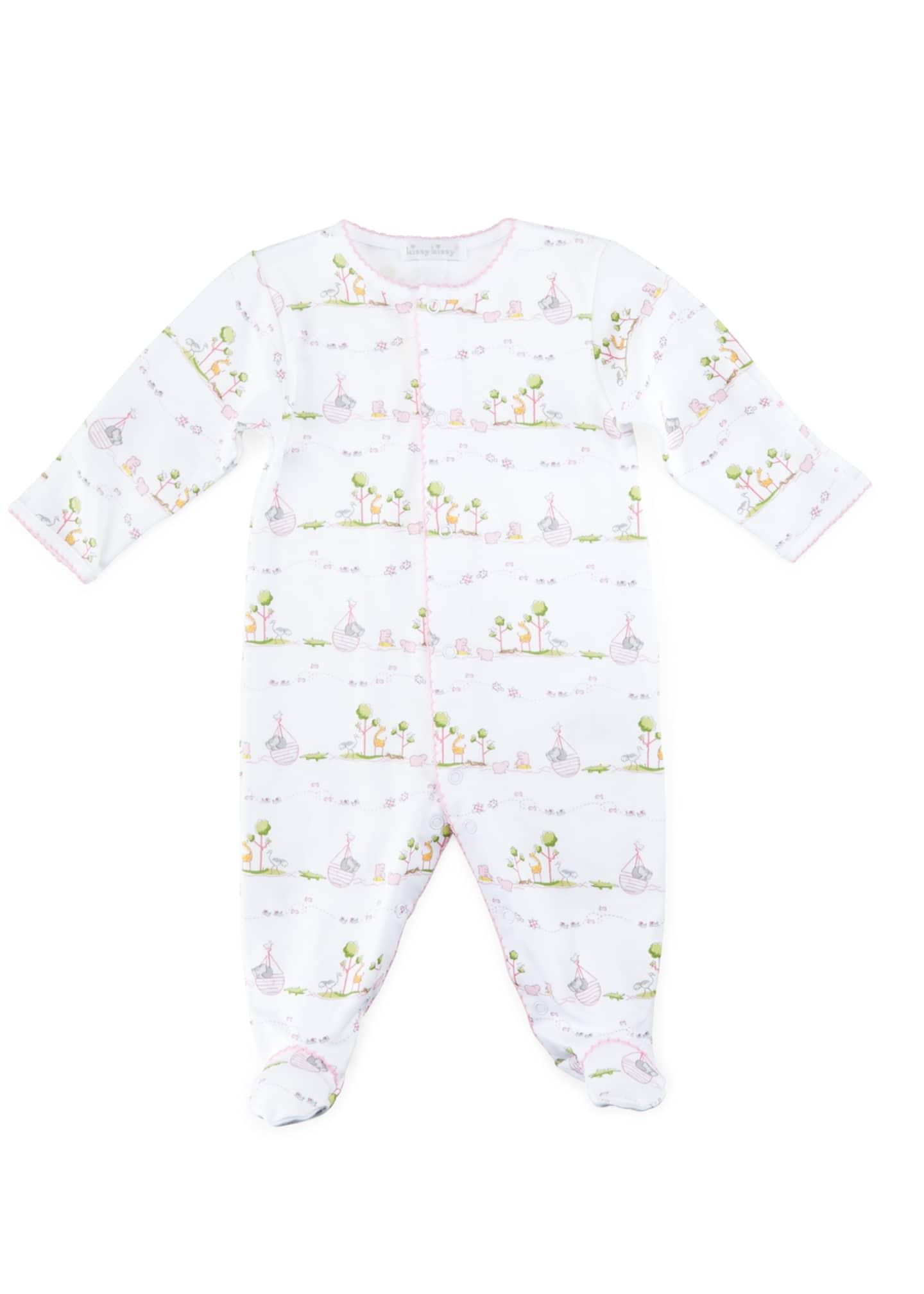 Kissy Kissy Noah's Ark Printed Footie Pajamas, Size