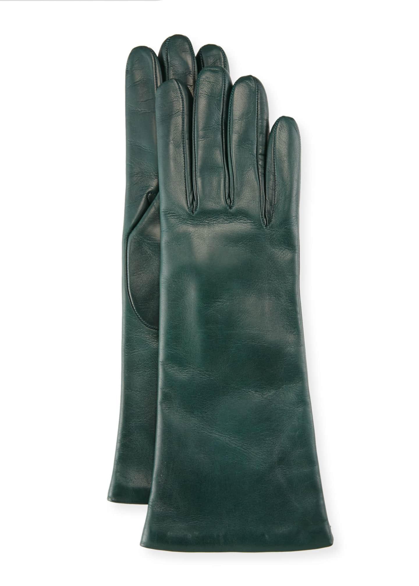 Portolano Napa Leather Gloves, Iron Gray