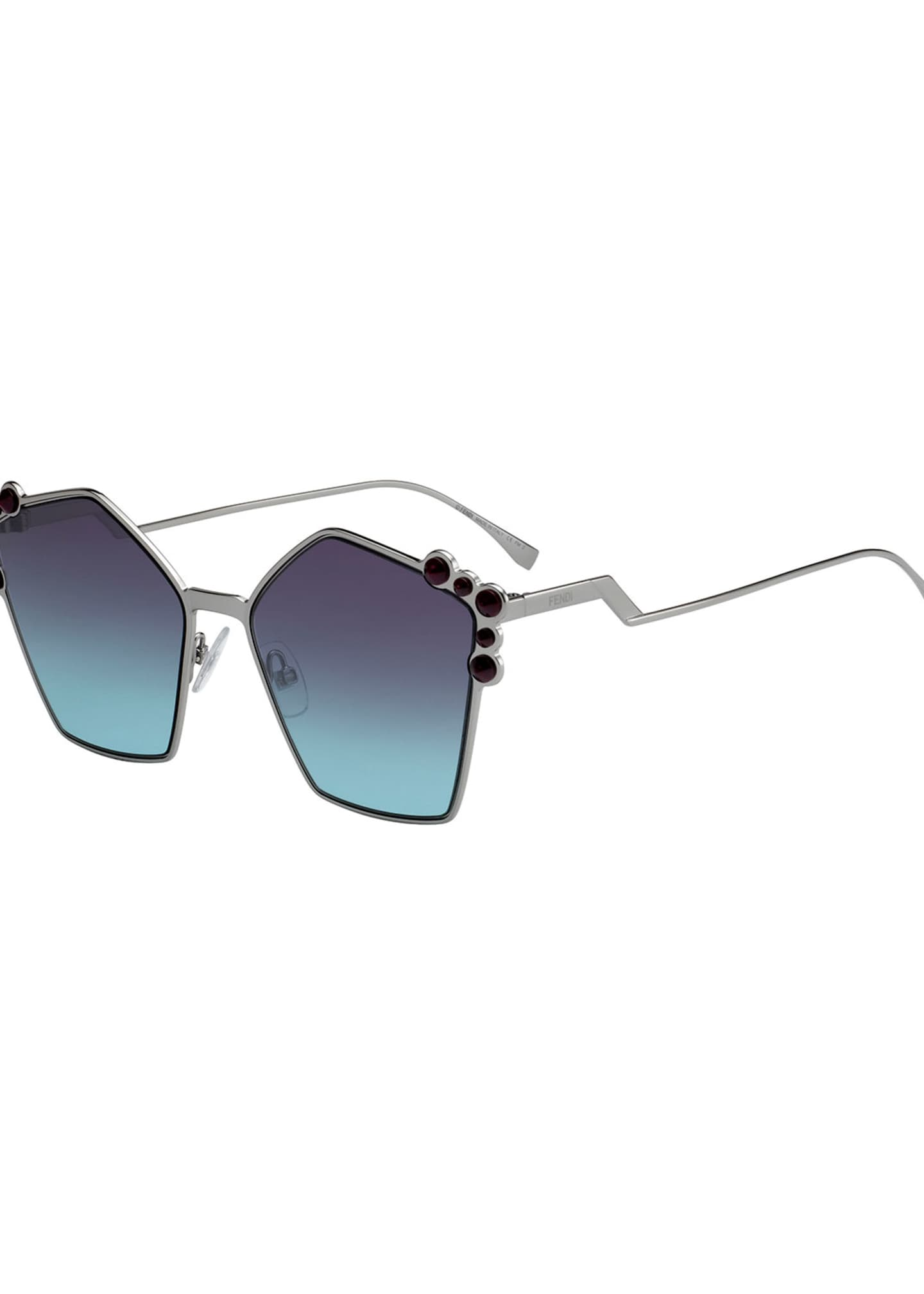 Fendi Studded Oversized Geometric Sunglasses