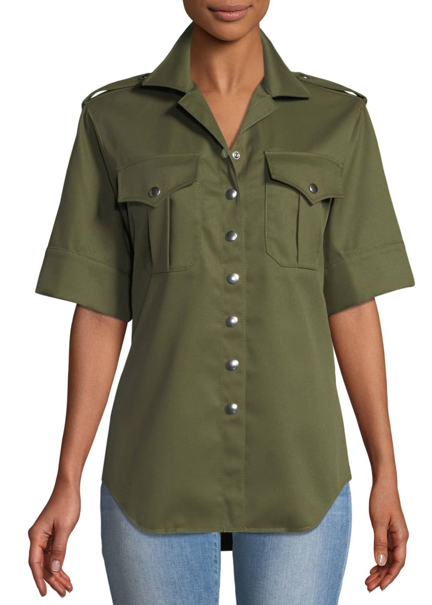 Marques'Almeida Snap-Front Safari Shirt