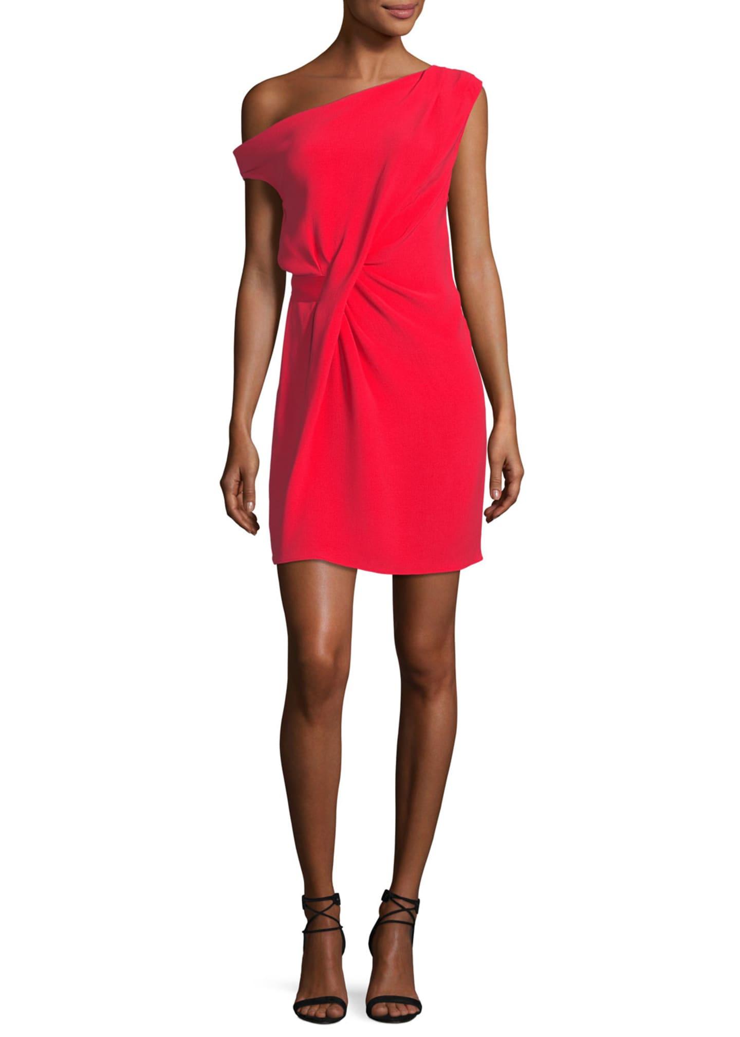 Tre by Natalie Ratabesi Draped Off-Shoulder Mini Dress