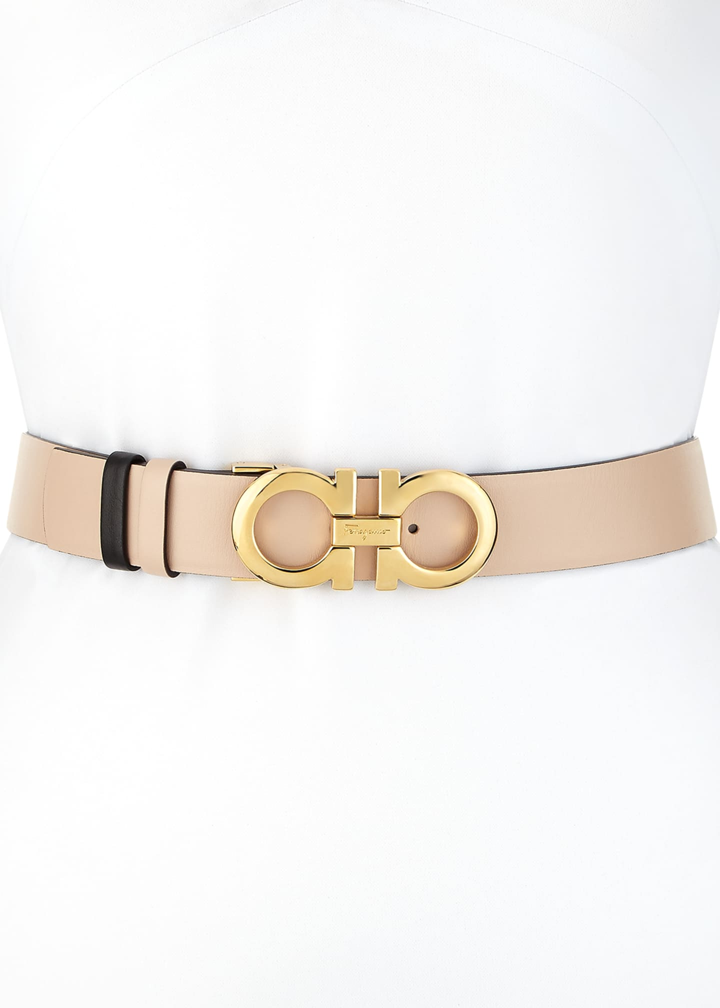 Salvatore Ferragamo Gancini-Buckle Leather Belt