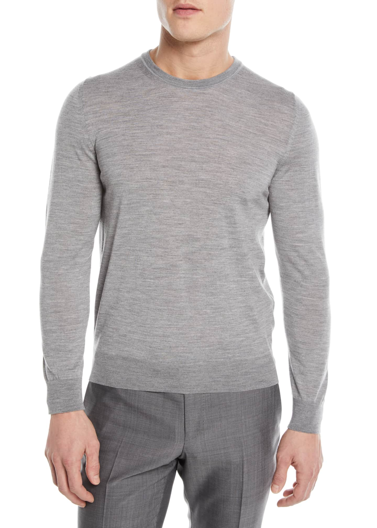 Z Zegna Crewneck Wool Pullover Sweater