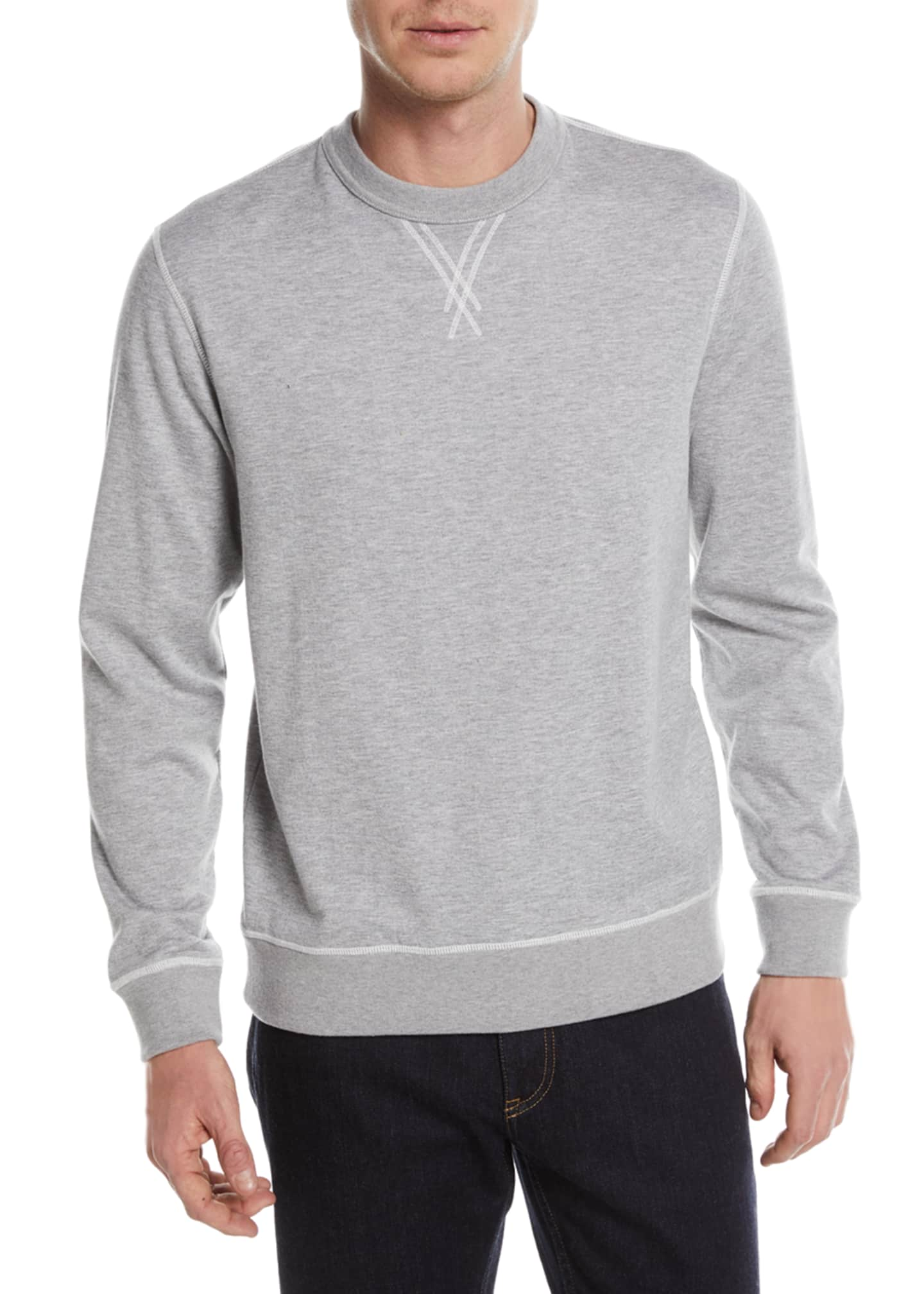 Ermenegildo Zegna Heathered Cotton/Cashmere Sweatshirt