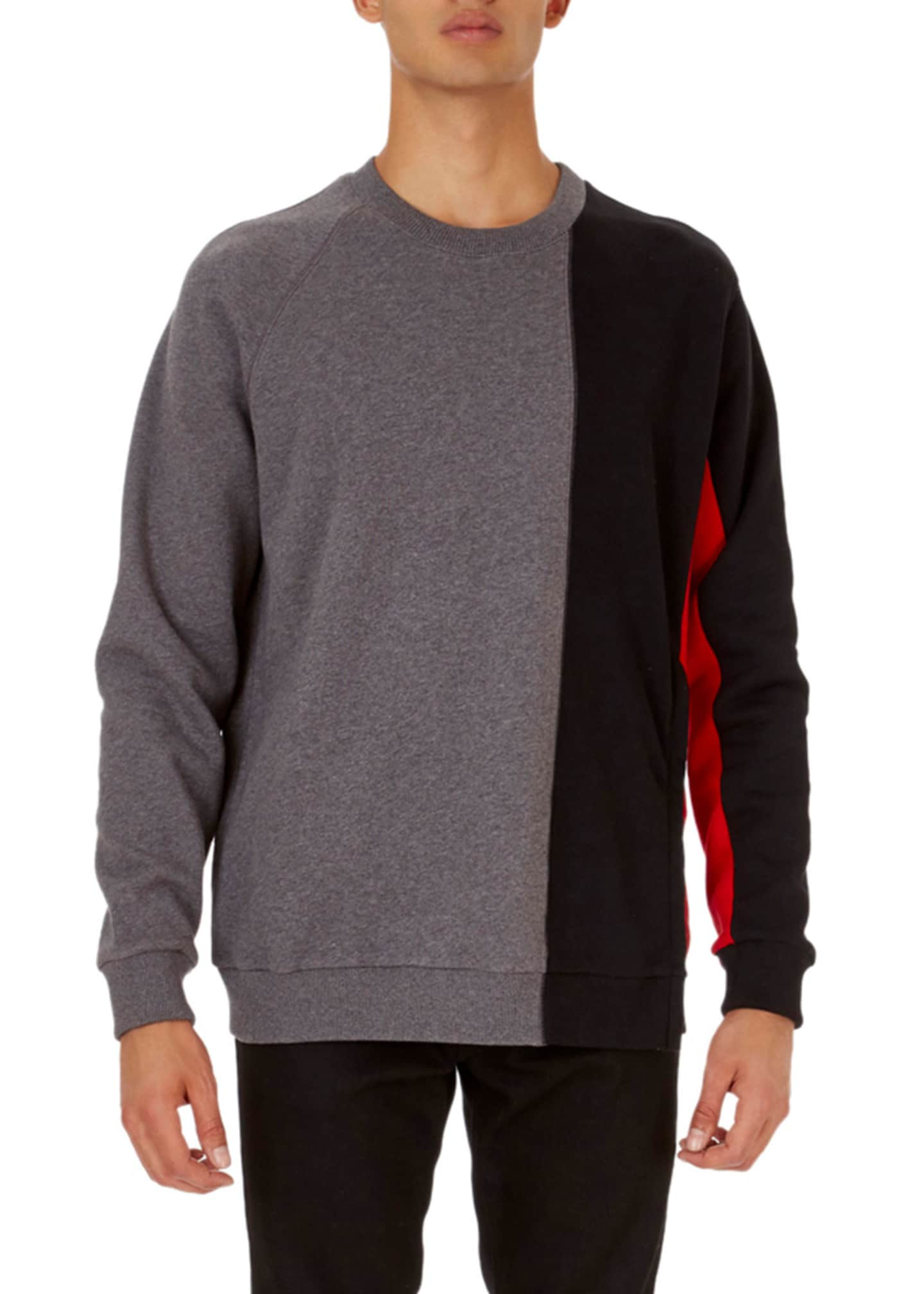 Givenchy Cuban-Fit Panel Pullover Sweatshirt with Zip at