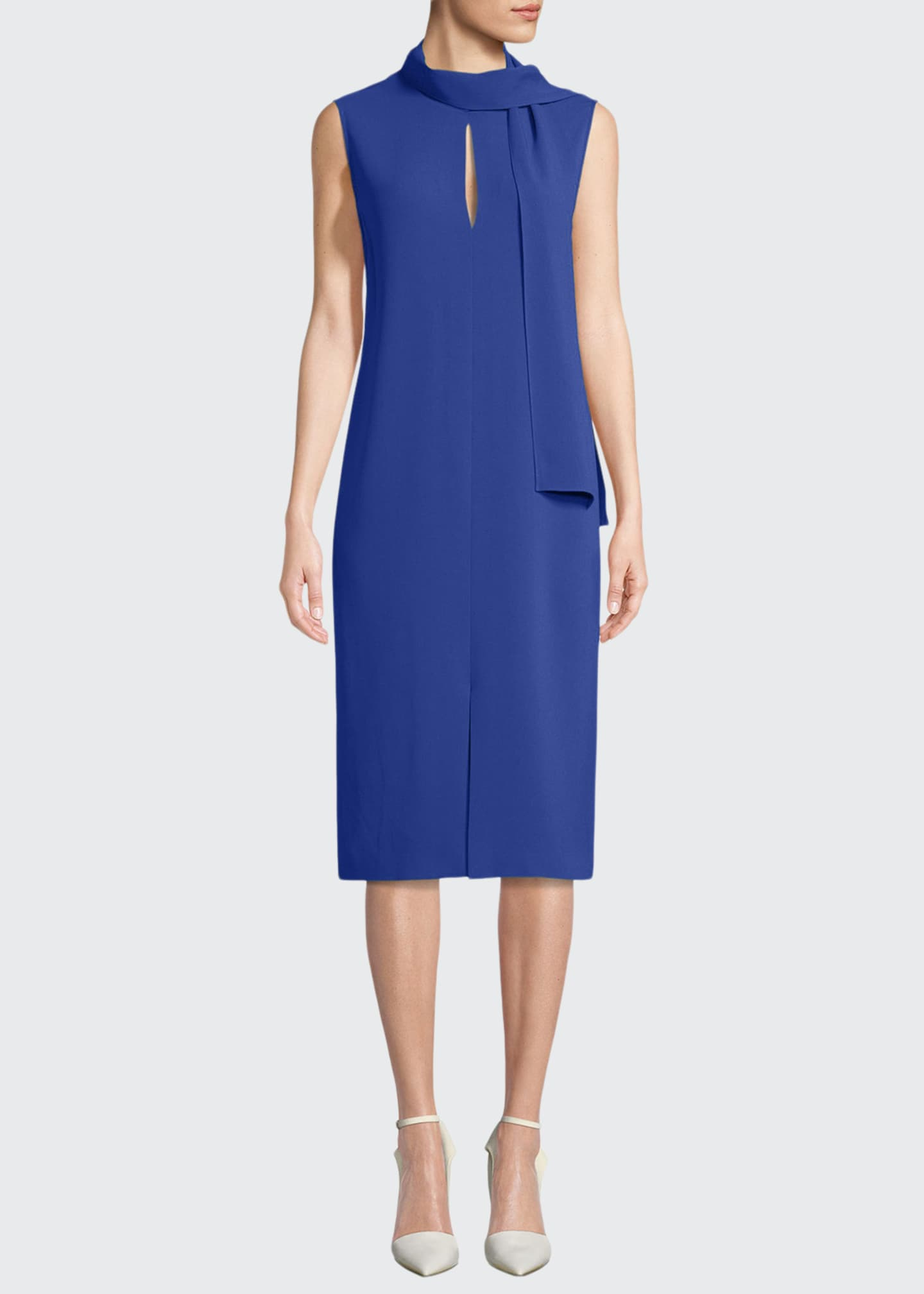 Joseph Noon Sleeveless Necktie Shift Dress