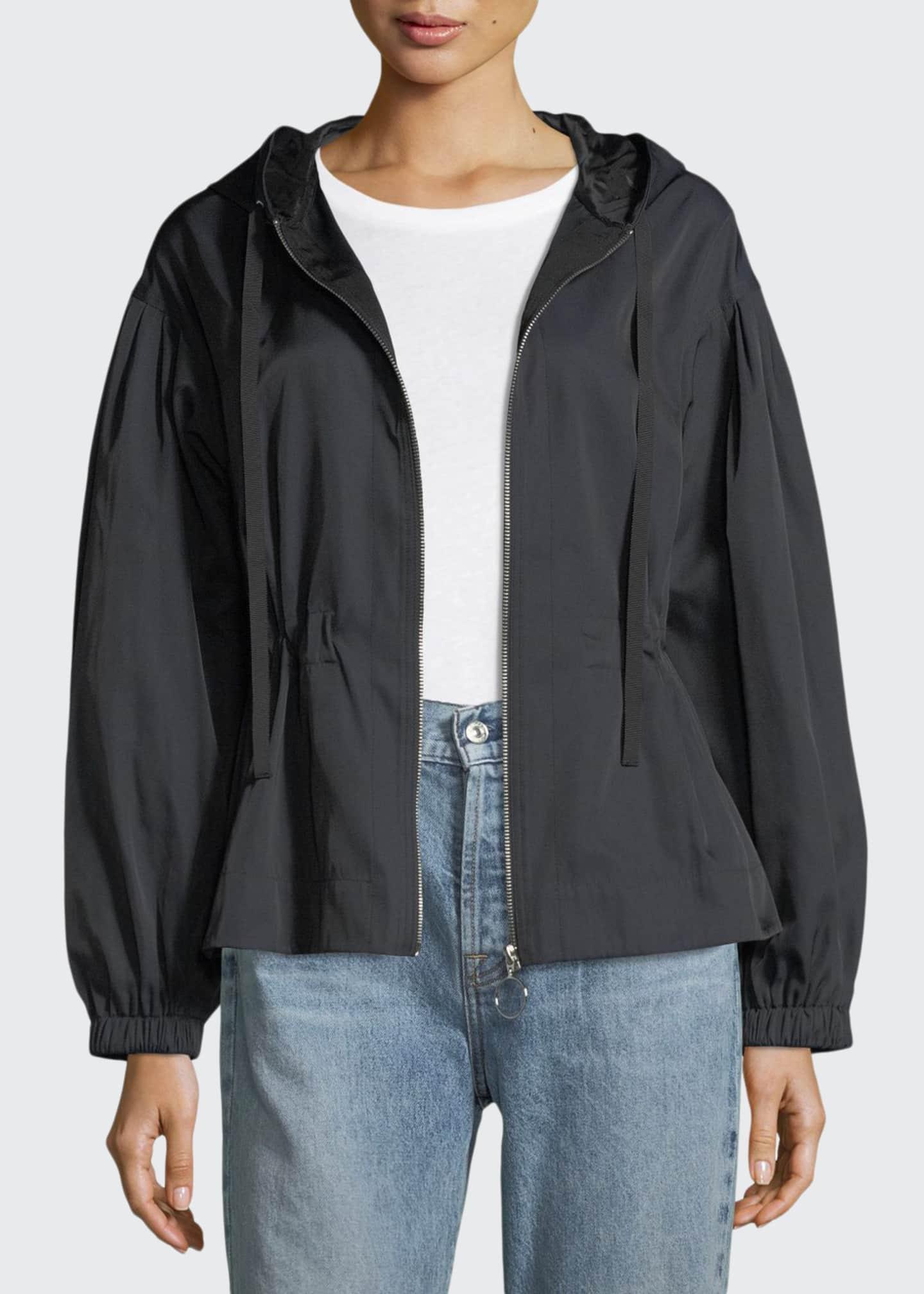 Elizabeth & James Melanie Zip-Front Cinched-Waist Short Jackets