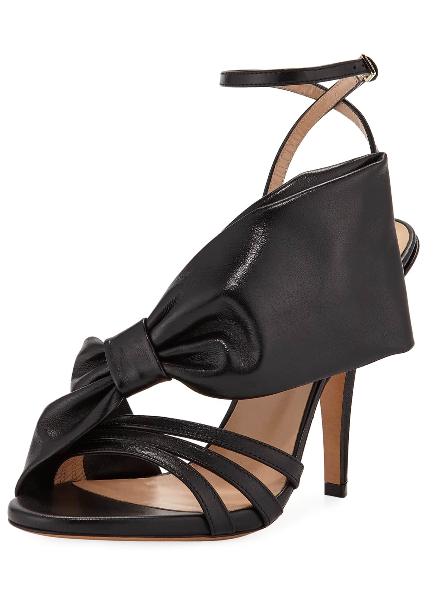Valentino Garavani Large Bow Leather Sandal