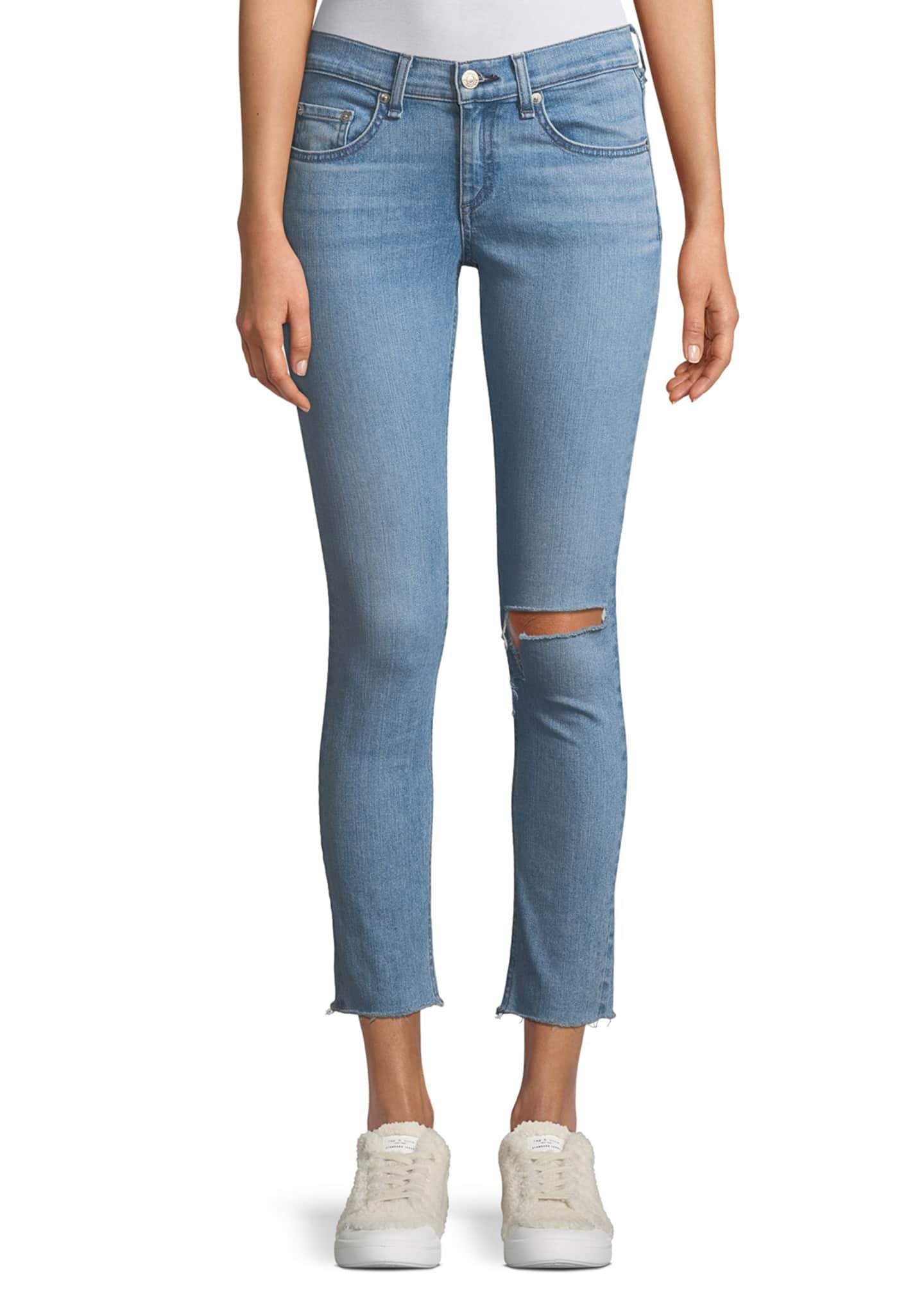 rag & bone/JEAN Classic Mid-rise Ankle Skinny Jeans