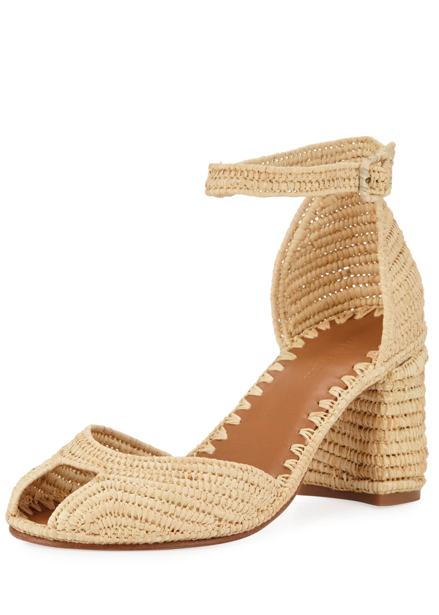 Carrie Forbes Laila Raffia Ankle Sandals