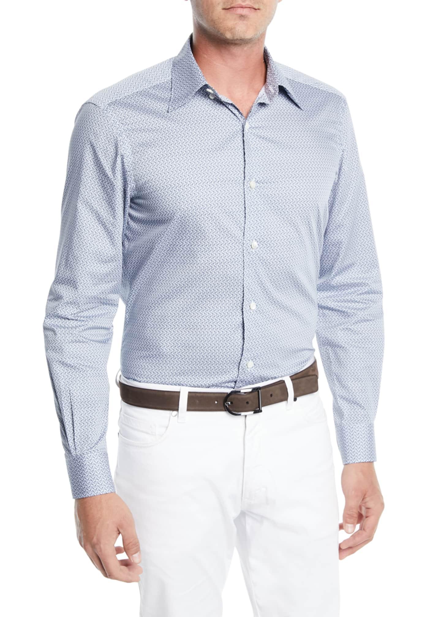 Ermenegildo Zegna Men's Large-Check Sport Shirt