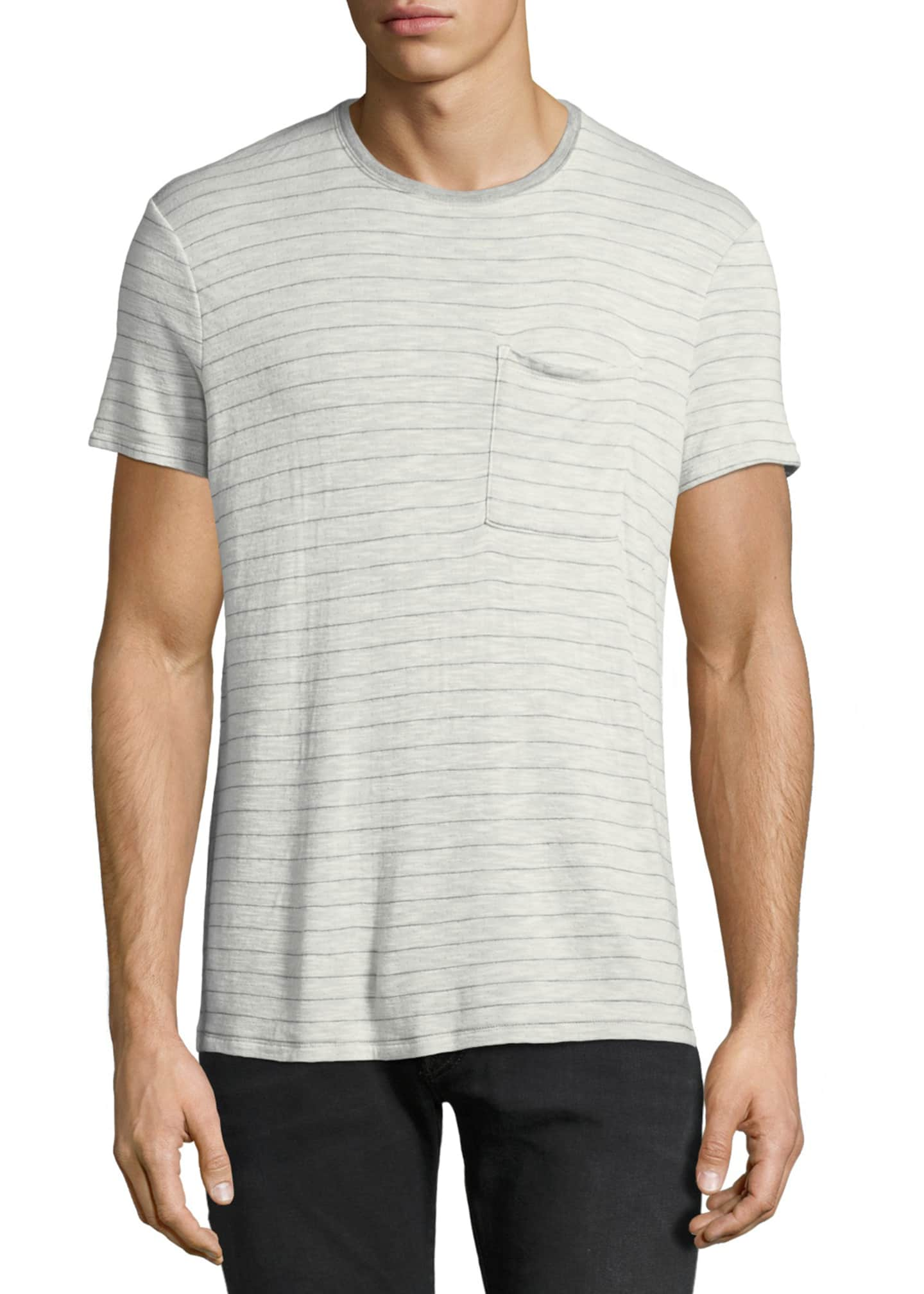 ATM Anthony Thomas Melillo Men's Striped Slub T-Shirt