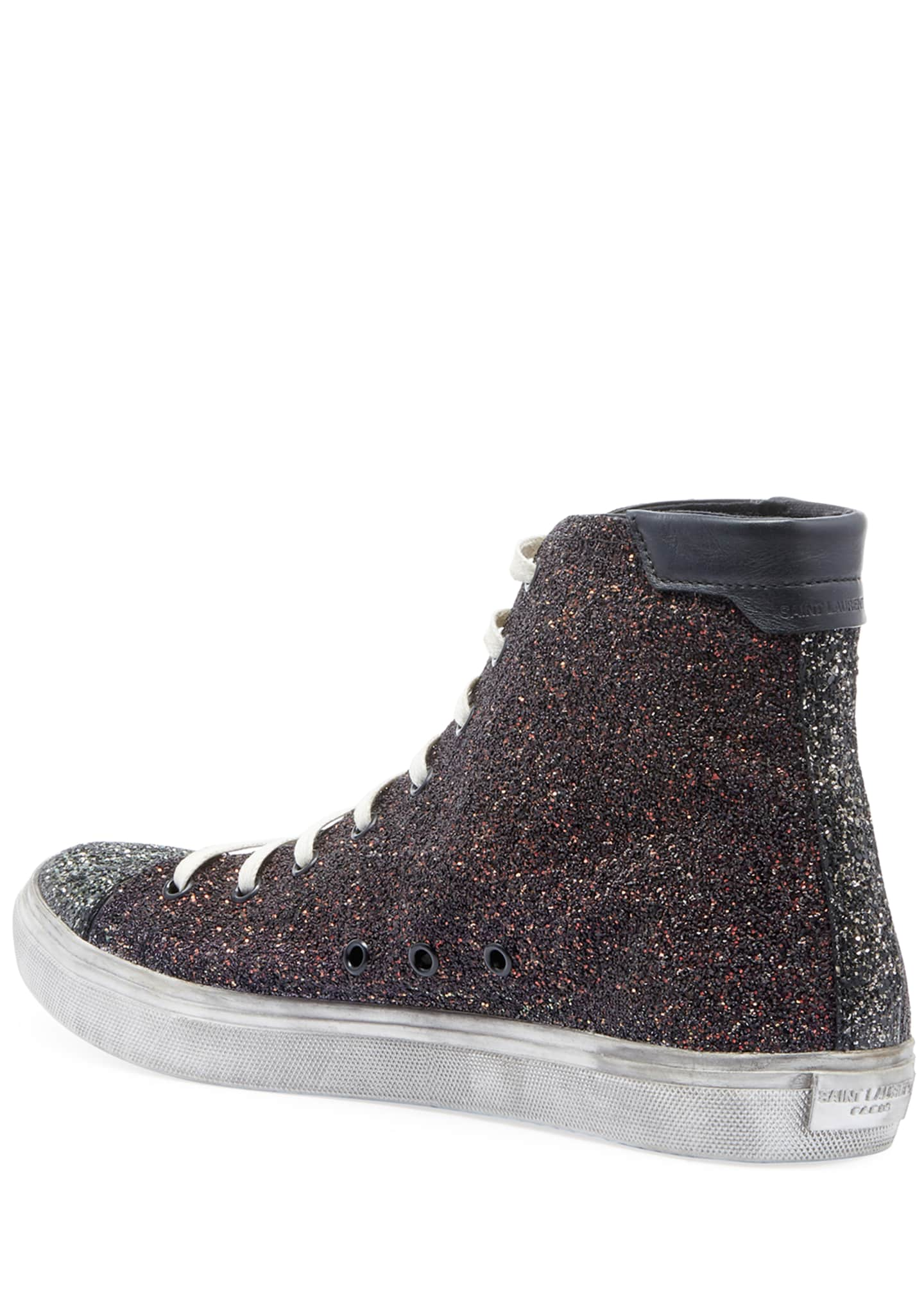 Image 3 of 3: Men's Bedford Solid Glitter High-Top Sneakers