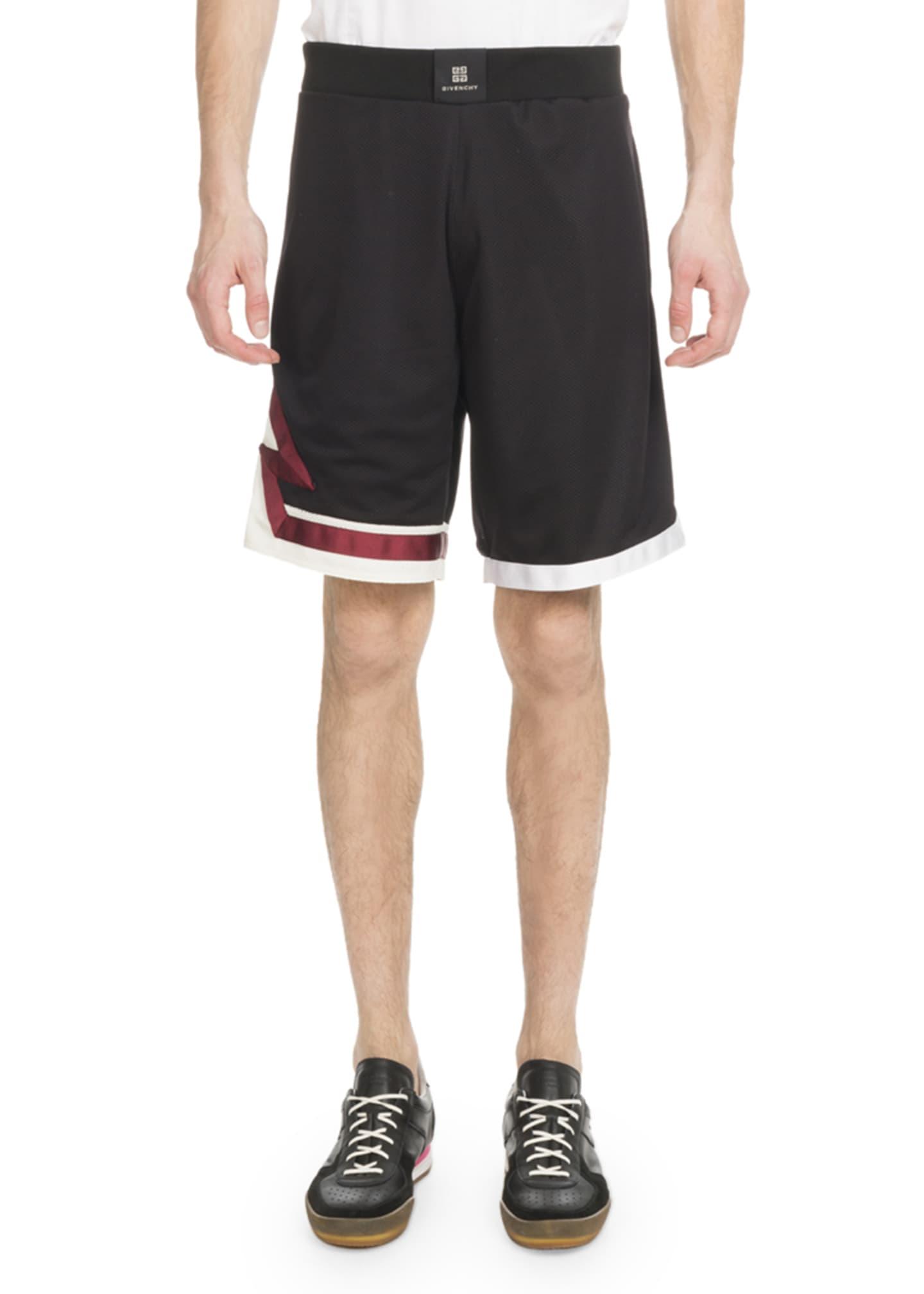 Givenchy Men's Lightning Bolt Basketball Shorts