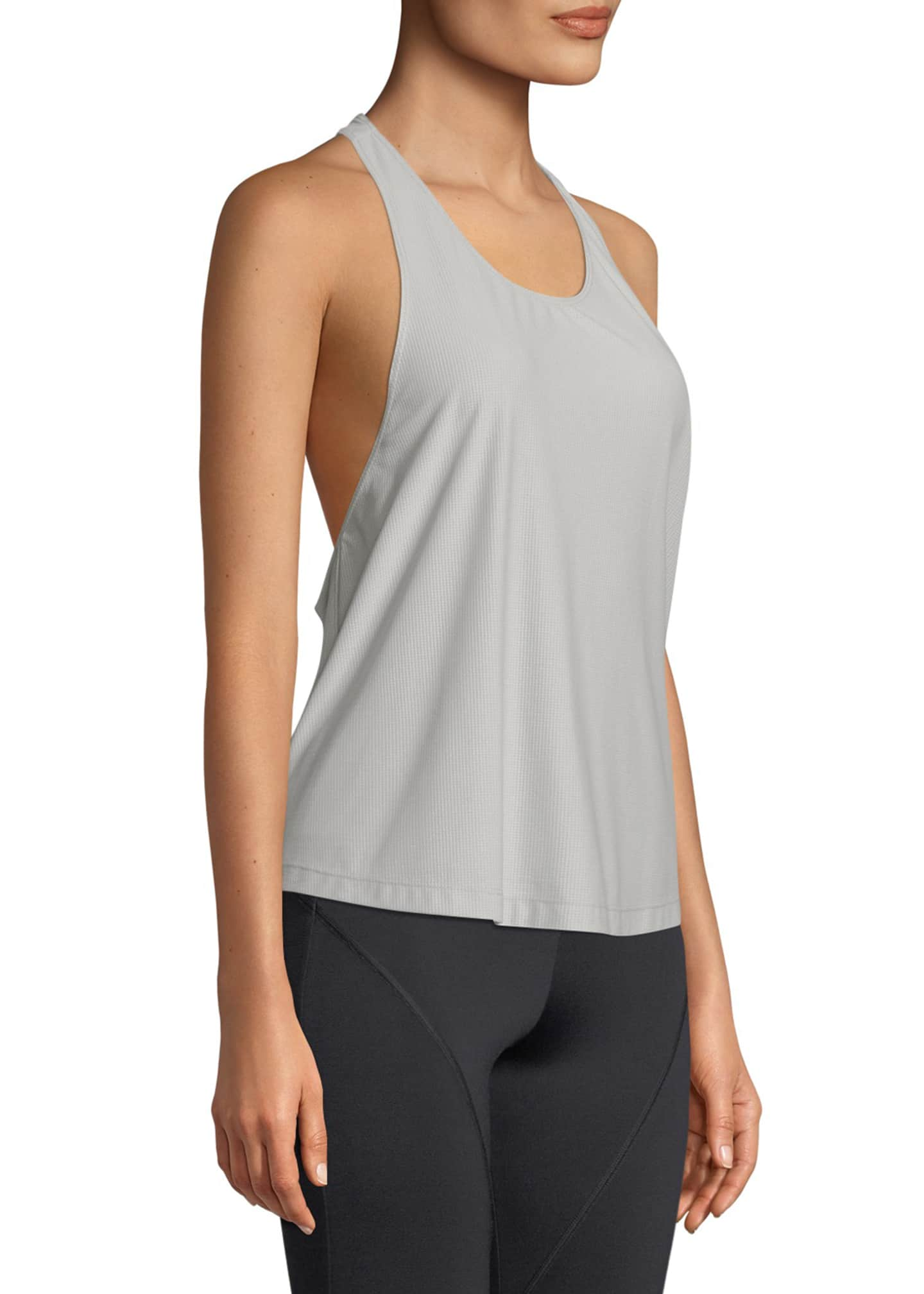 Image 3 of 3: Logo T-Back Scoop-Neck Active Tank