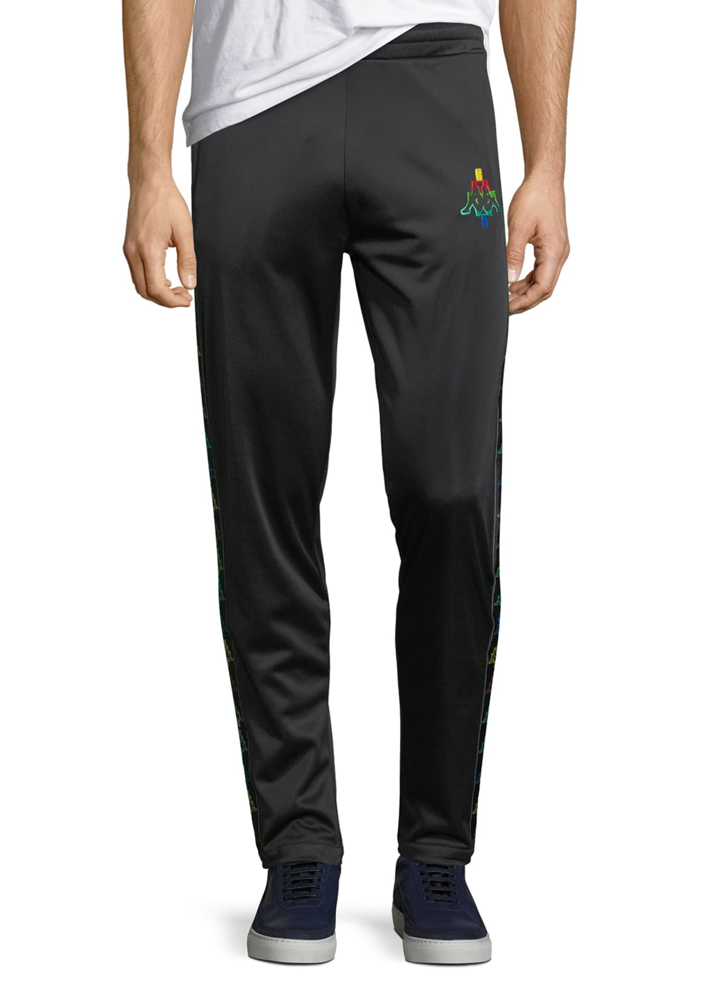 Marcelo Burlon Multicolor Kappa Straight-Leg Jersey Sweatpants