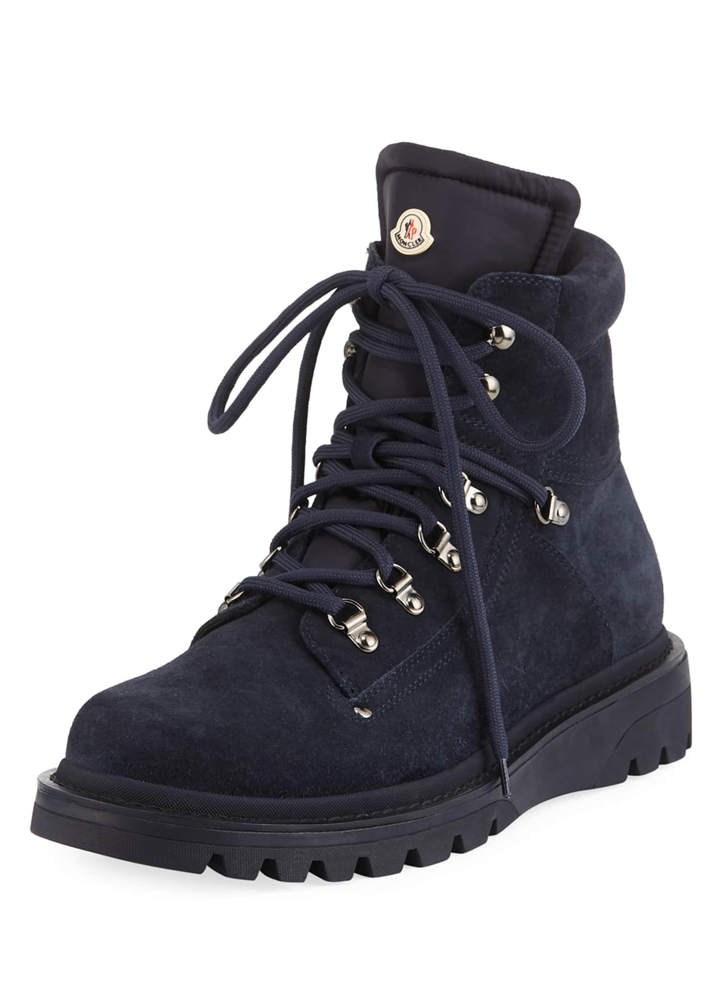 Moncler Men's Egide Suede Hiking Boots