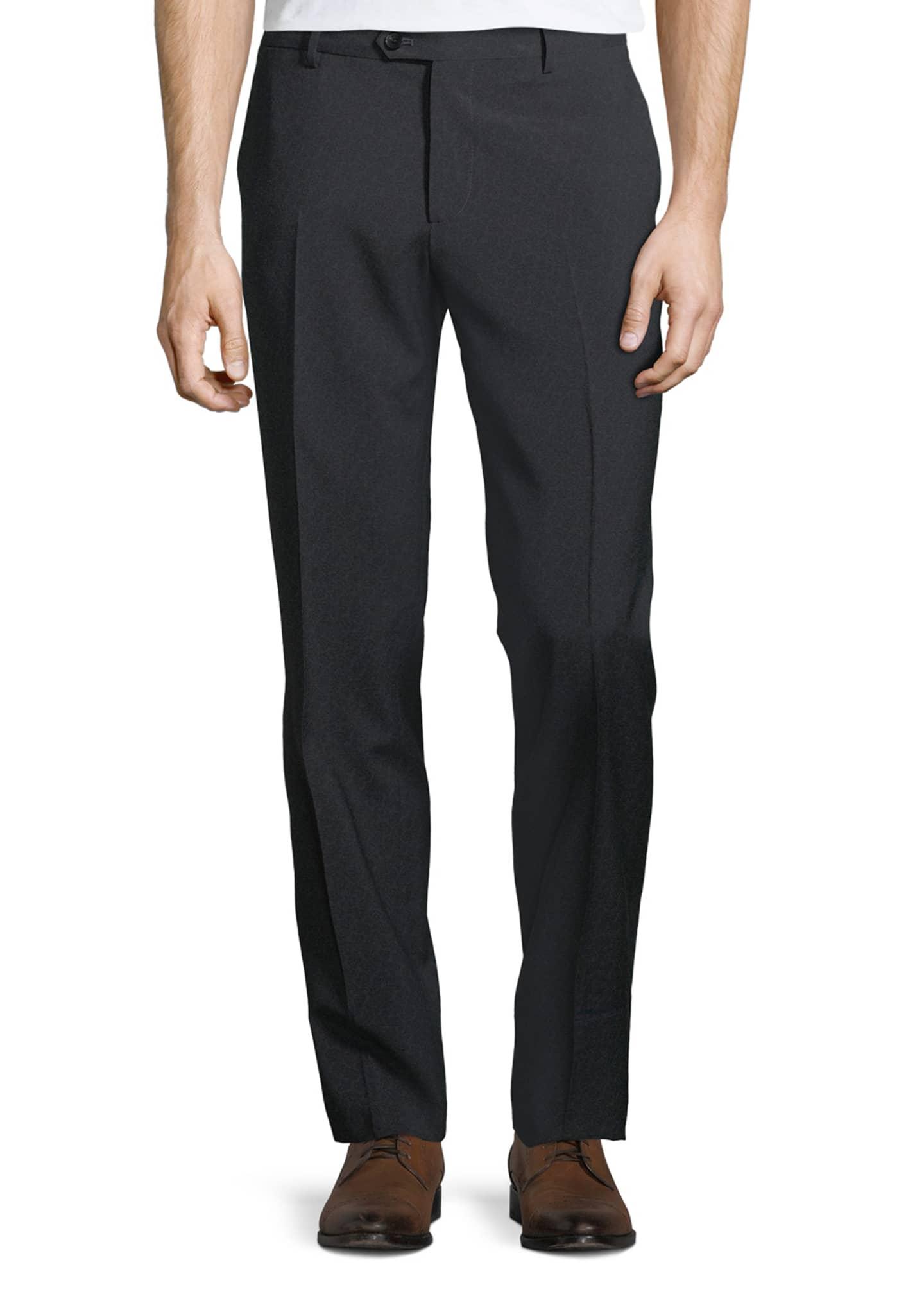 Etro Men's Wool Flat-Front Pants