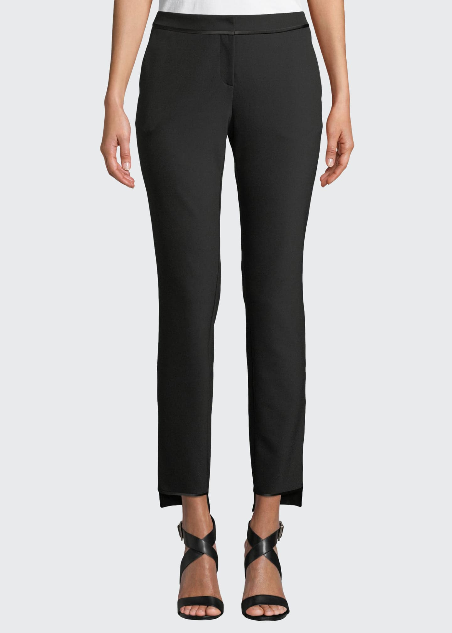 Lafayette 148 New York Manhattan Slim-Leg Stretch Pants
