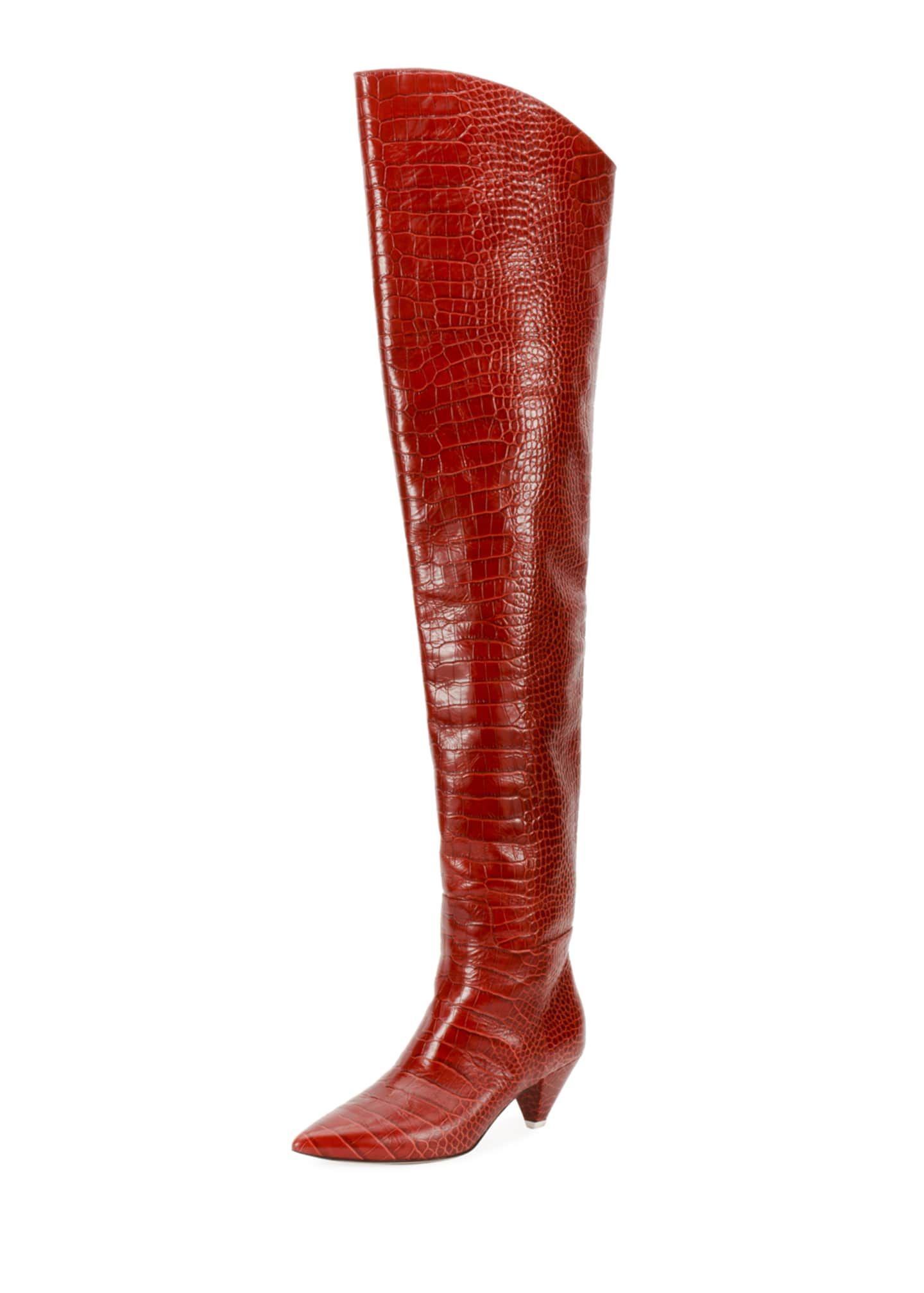 Attico Asia Over-The-Knee Boots