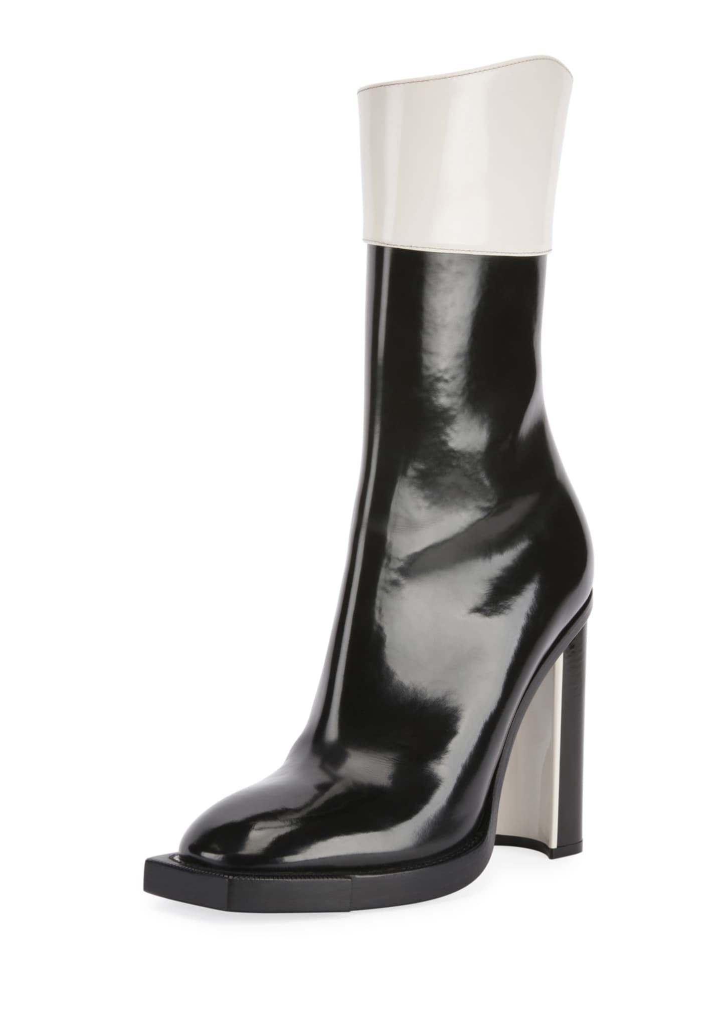 Alexander McQueen Two-Tone Tall Booties