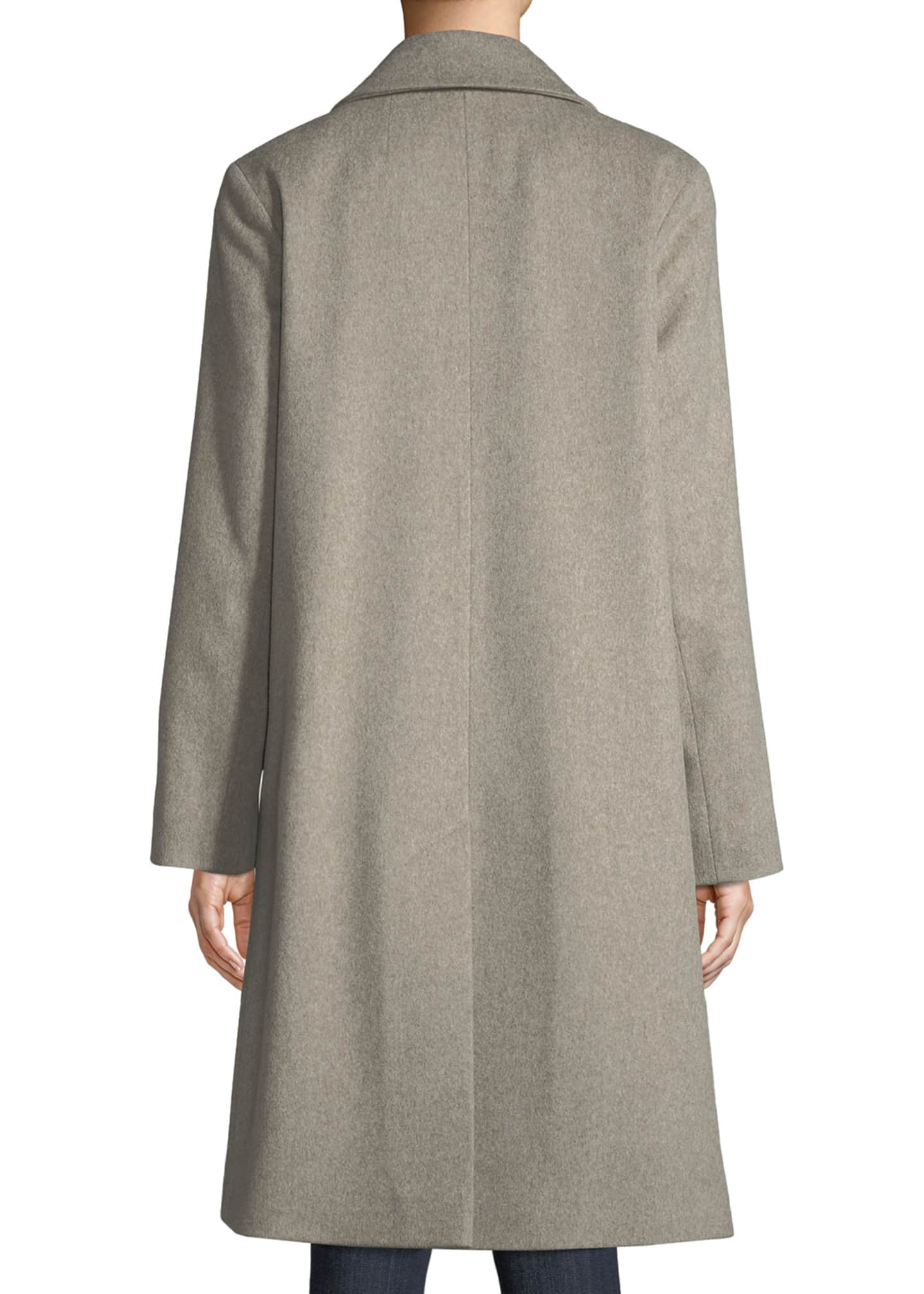 Image 2 of 3: Long Double-Breasted Wool Coat