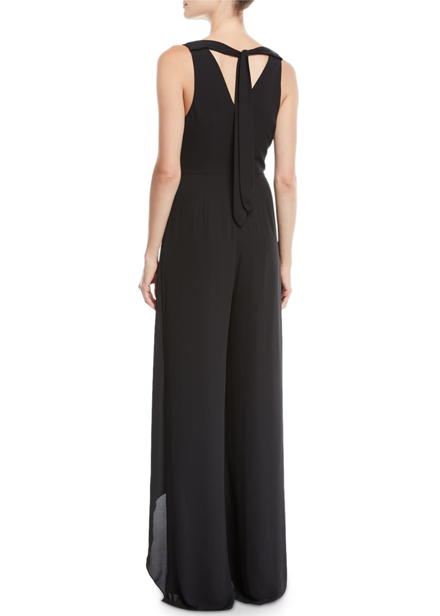 Image 2 of 2: Flowy Jumpsuit w/ Draped Front