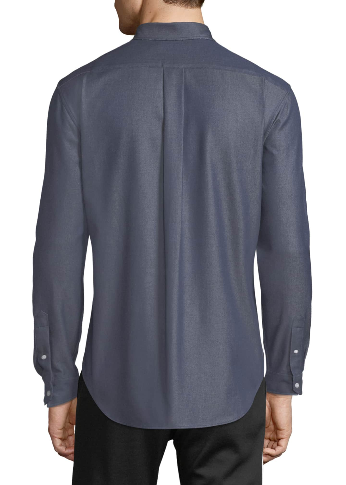 Image 2 of 4: Men's Button-Front Long-Sleeve Twill Shirt