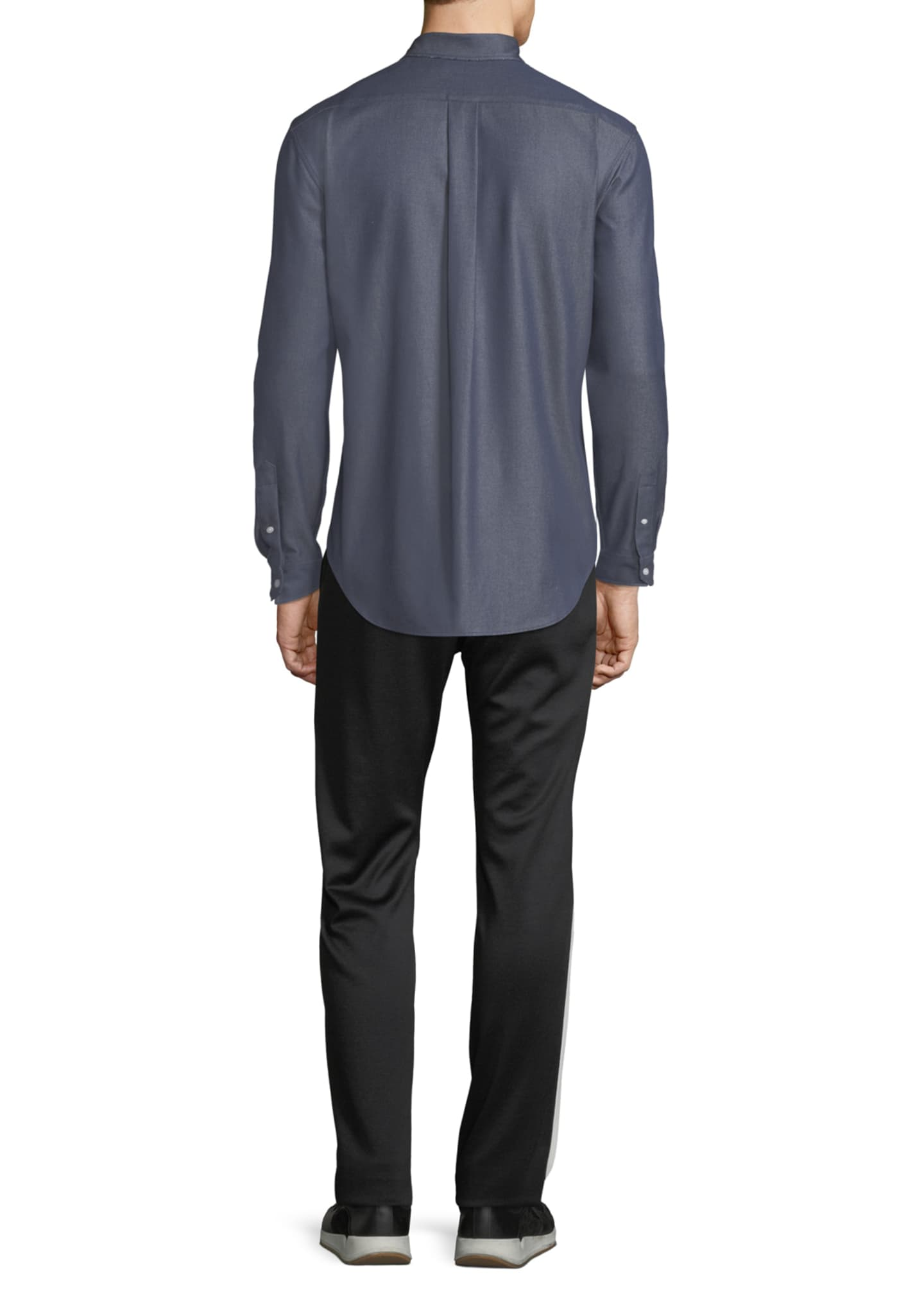 Image 4 of 4: Men's Button-Front Long-Sleeve Twill Shirt