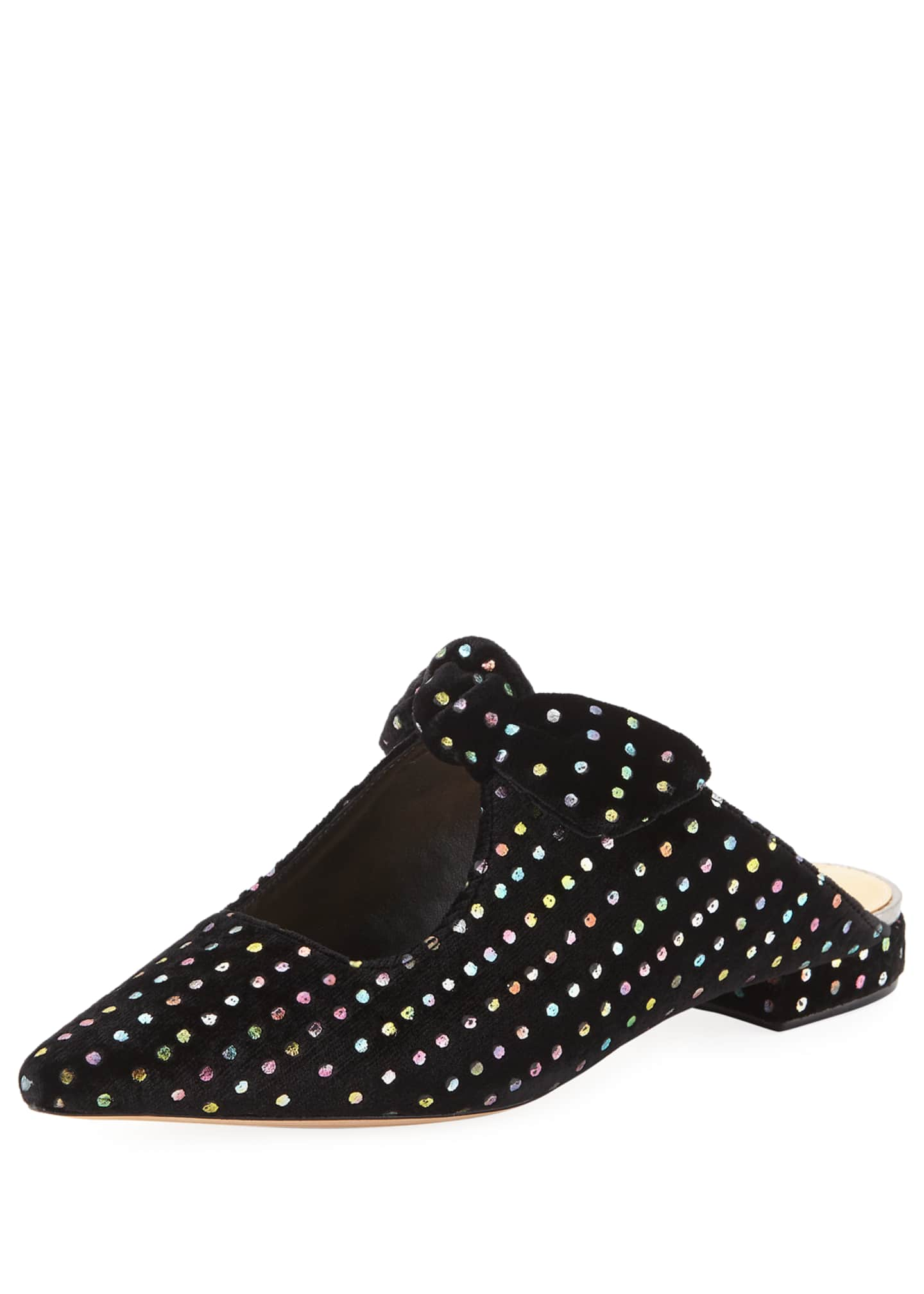 Alexandre Birman Evelyn Embellished Bow Mules