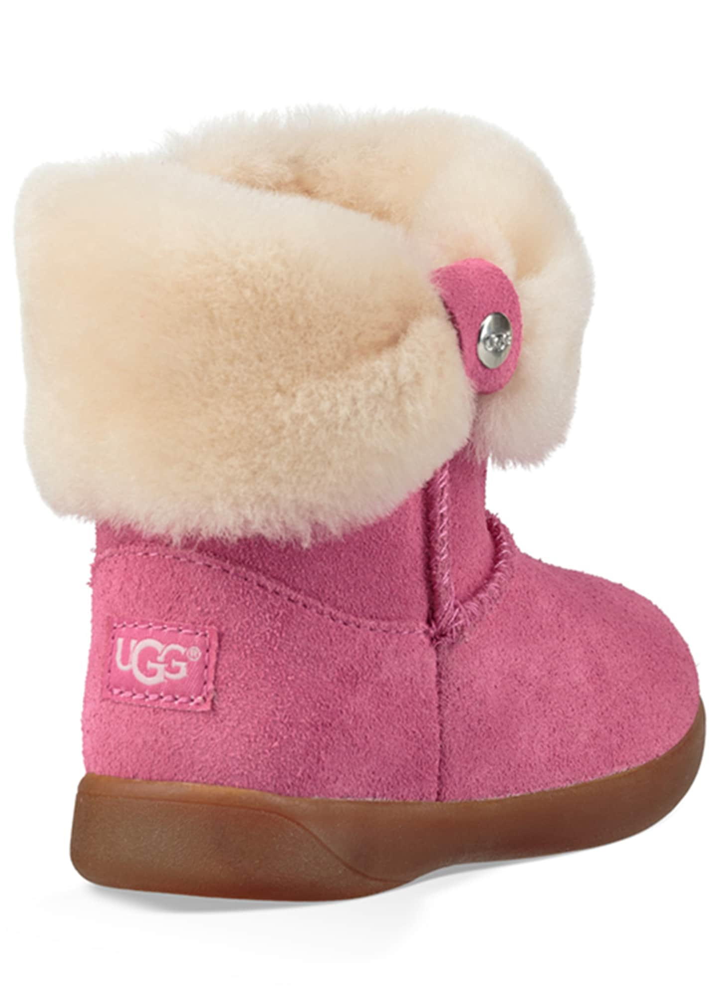 Image 2 of 5: Ramona Suede Boot w/ Shearling Cuff, Toddler