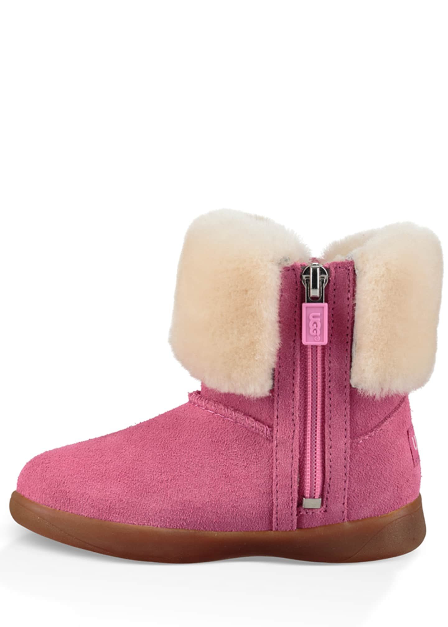 Image 3 of 5: Ramona Suede Boot w/ Shearling Cuff, Toddler
