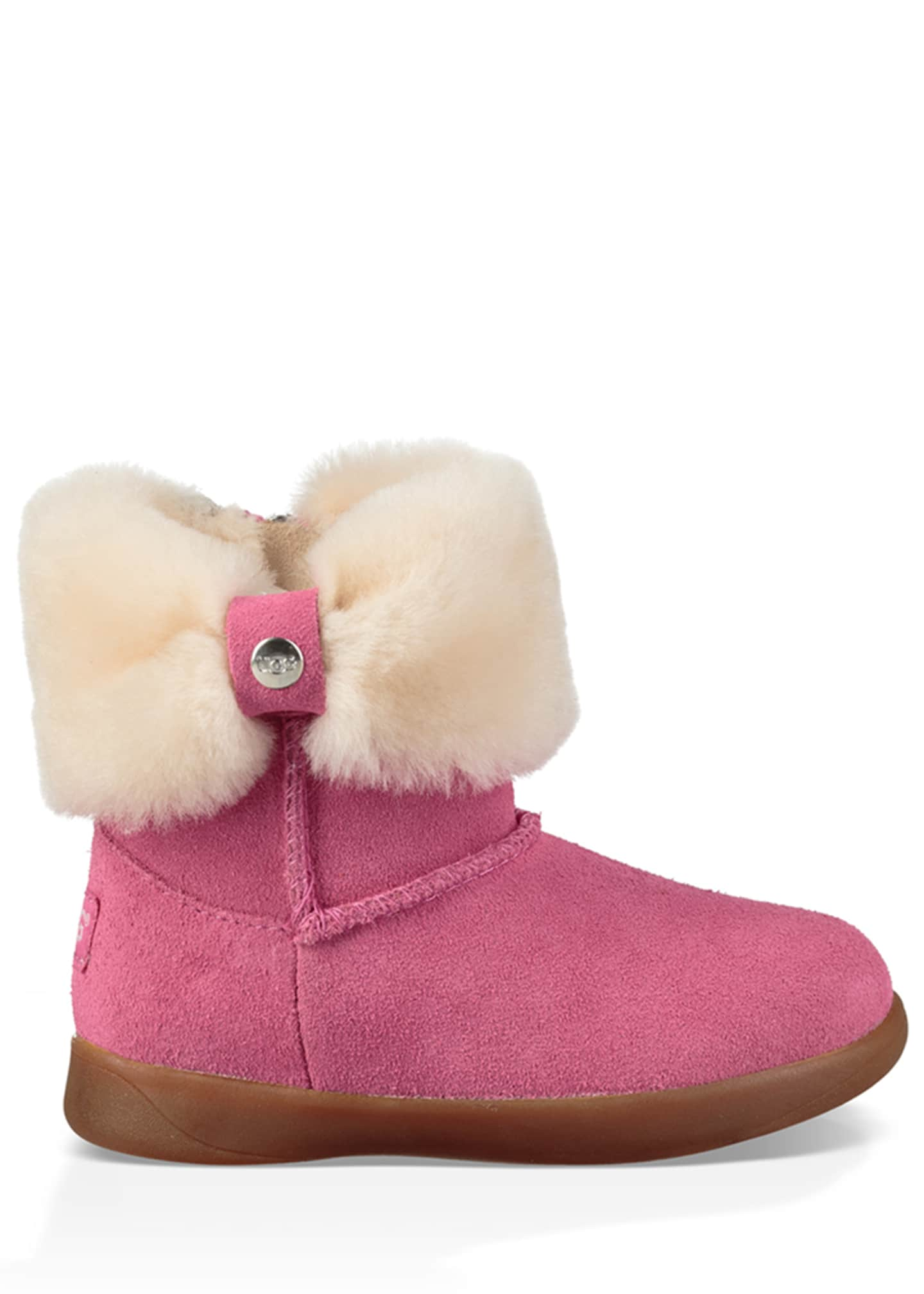 Image 1 of 5: Ramona Suede Boot w/ Shearling Cuff, Toddler