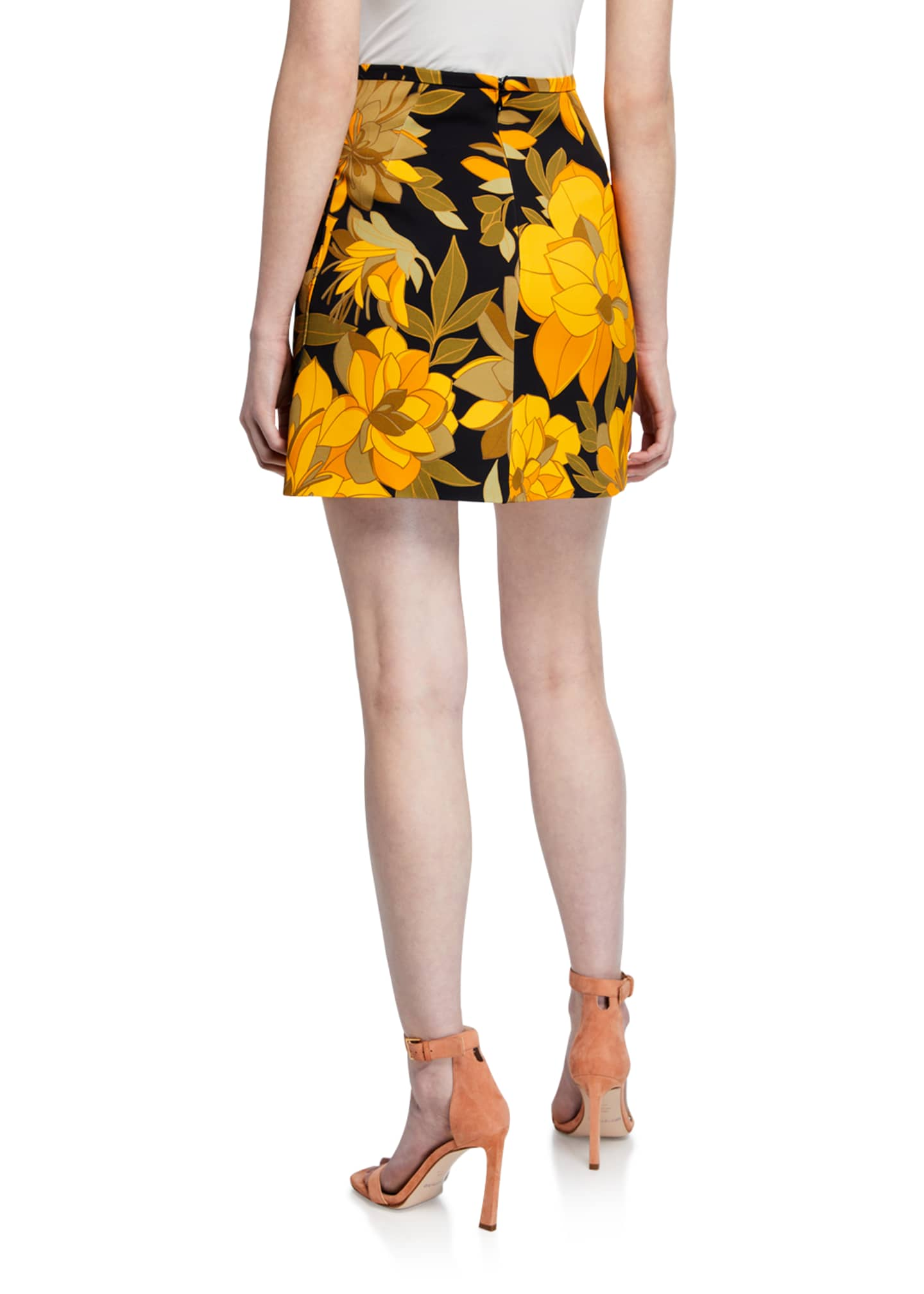 Image 2 of 3: Floral Print Mini Skirt