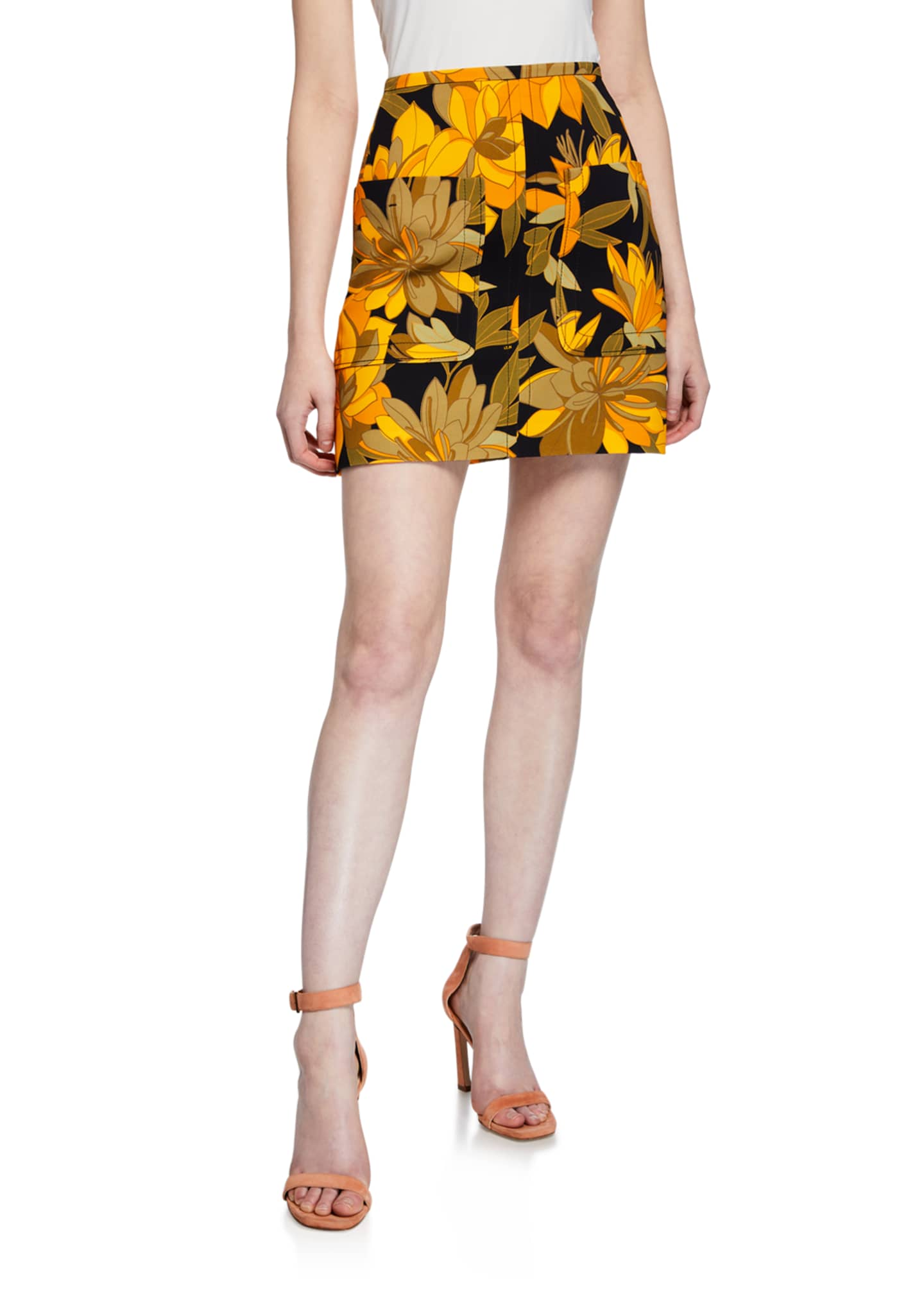 Image 1 of 3: Floral Print Mini Skirt