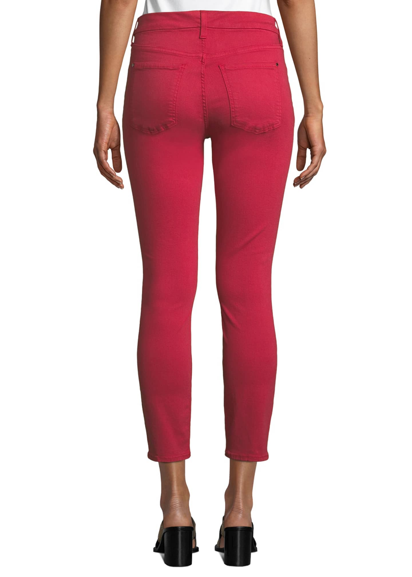 Image 2 of 3: Mid-Rise Skinny Twill Pants