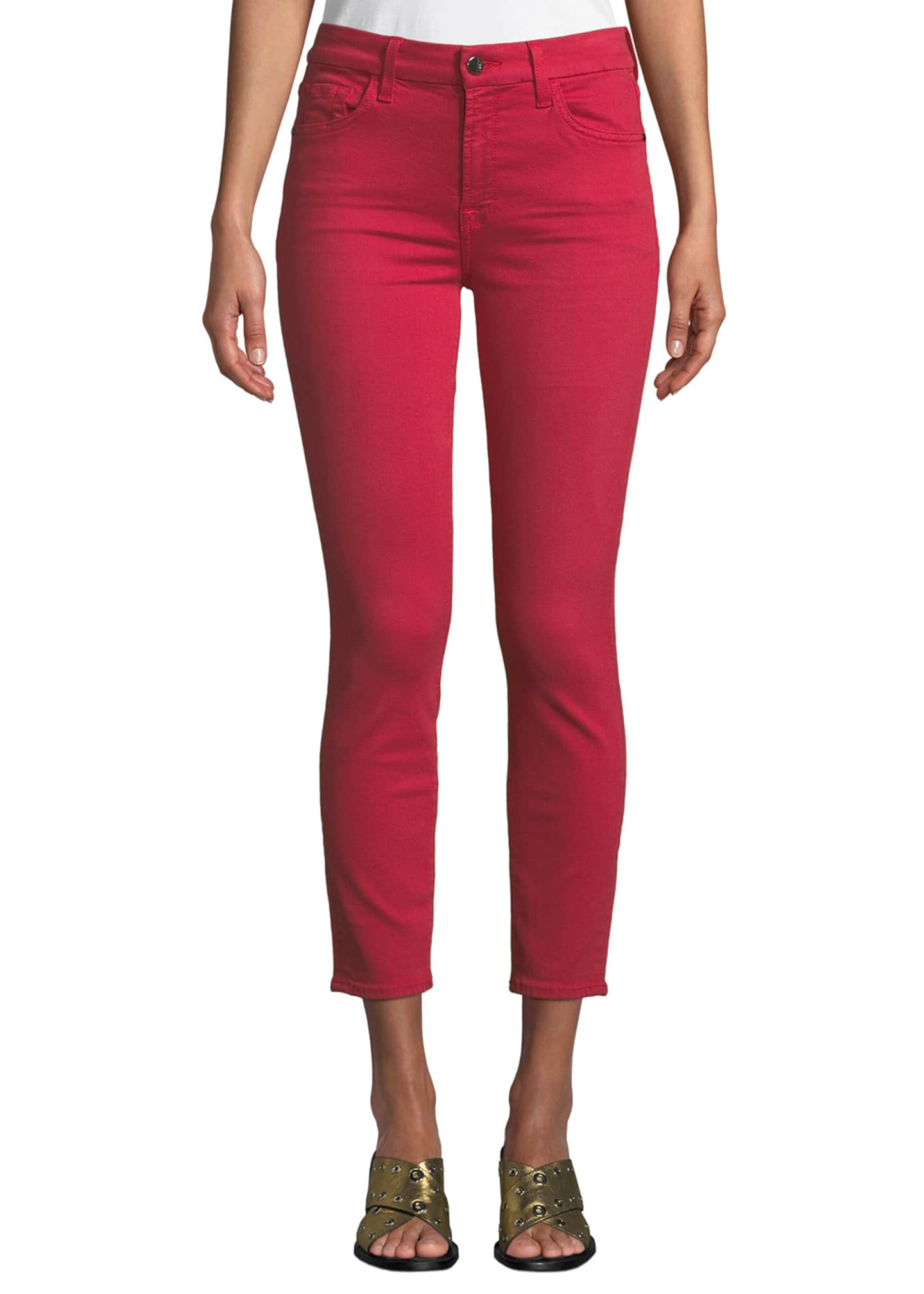 Image 1 of 3: Mid-Rise Skinny Twill Pants