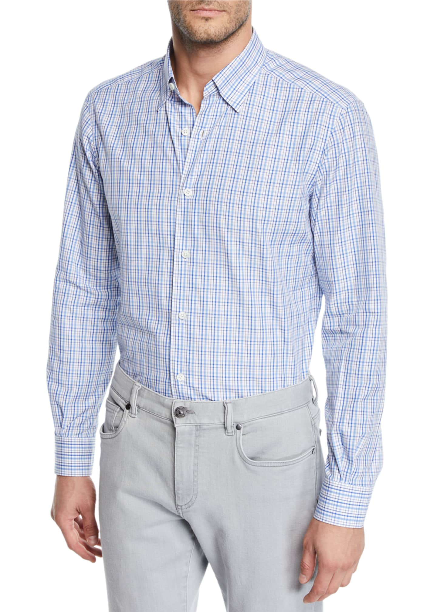 Ermenegildo Zegna Men's Cento Quaranta Check Cotton Sport