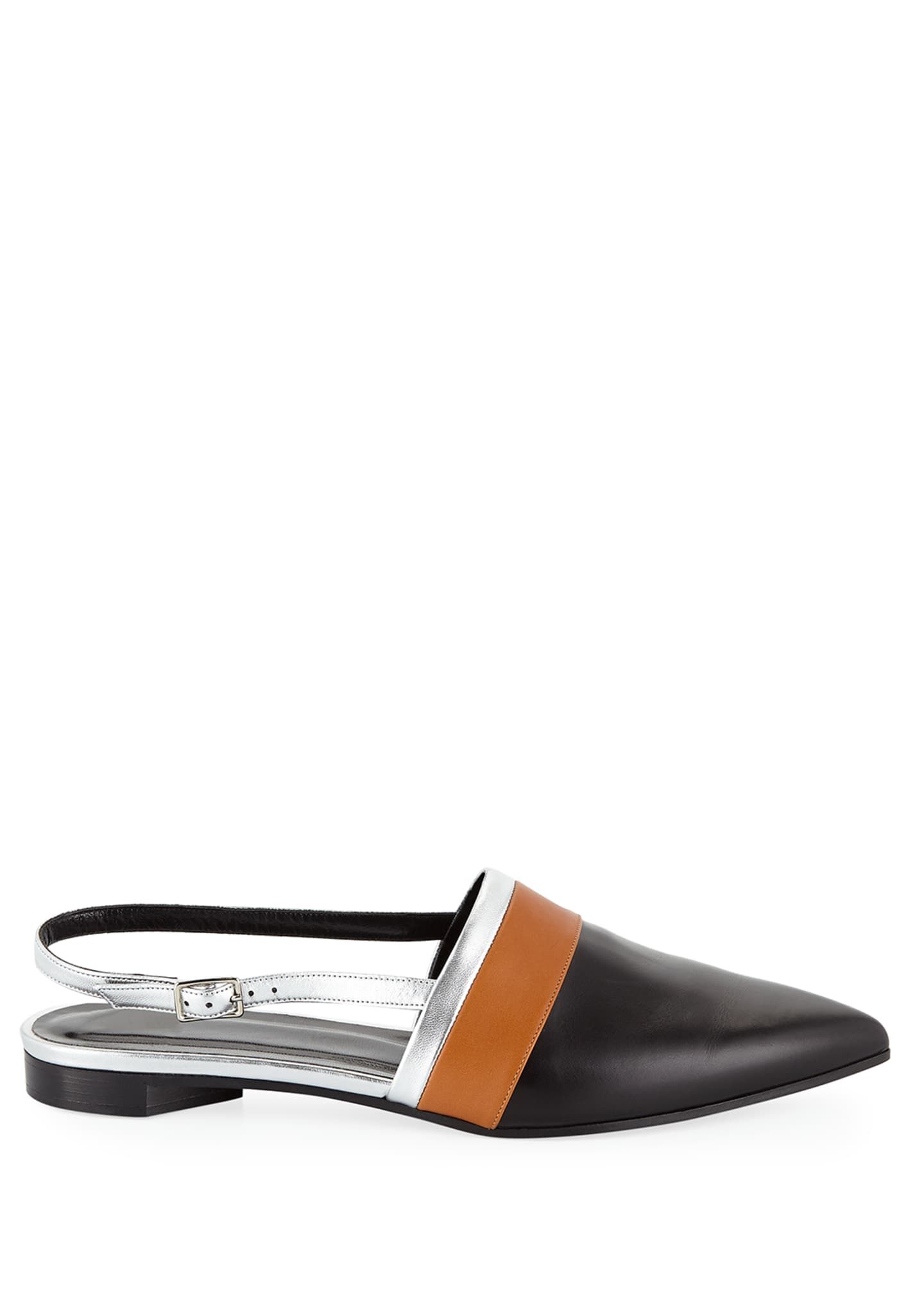 Image 2 of 4: Alpha Mixed Slingback Loafers