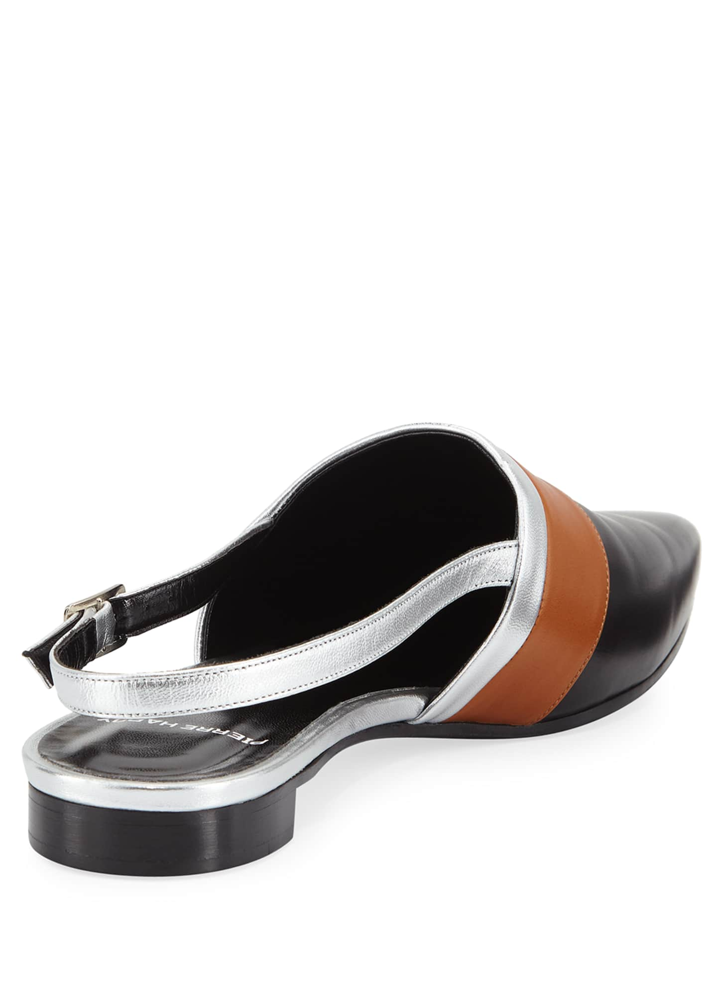 Image 4 of 4: Alpha Mixed Slingback Loafers