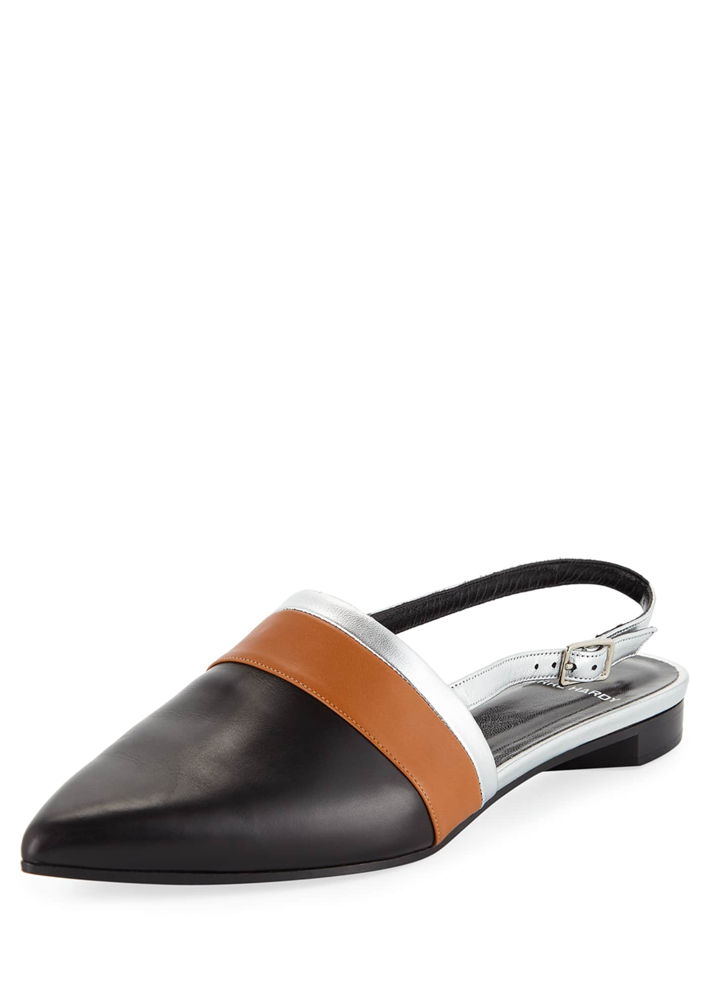 Image 1 of 4: Alpha Mixed Slingback Loafers