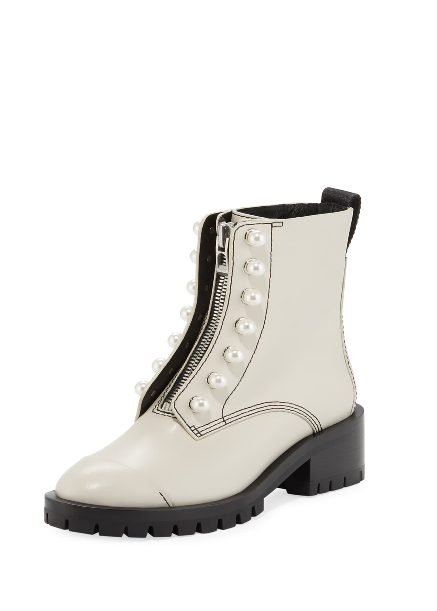 3.1 Phillip Lim Hayett Pearly-Studded Boots