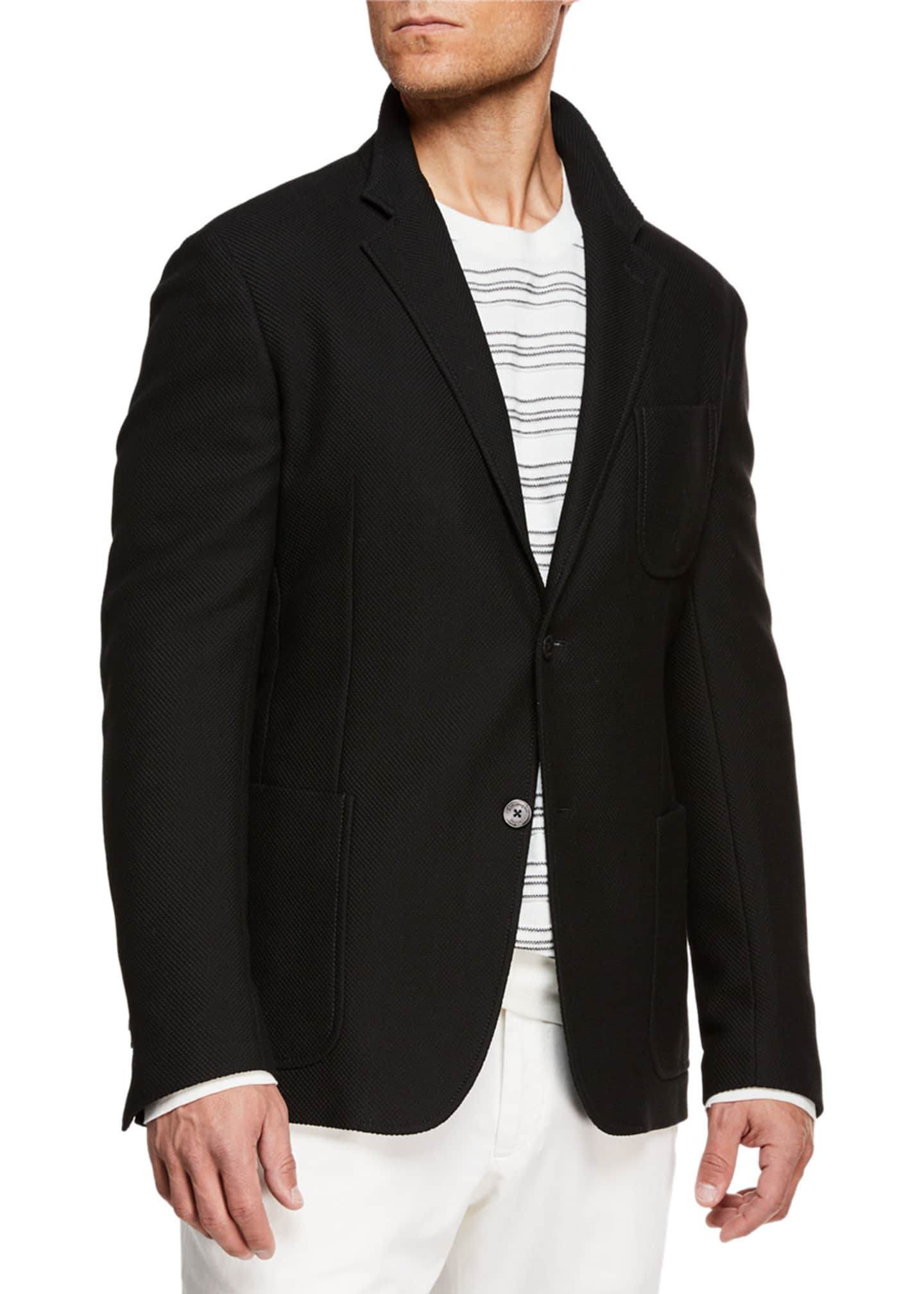 Ermenegildo Zegna Men's Open-Weave Two-Button Blazer