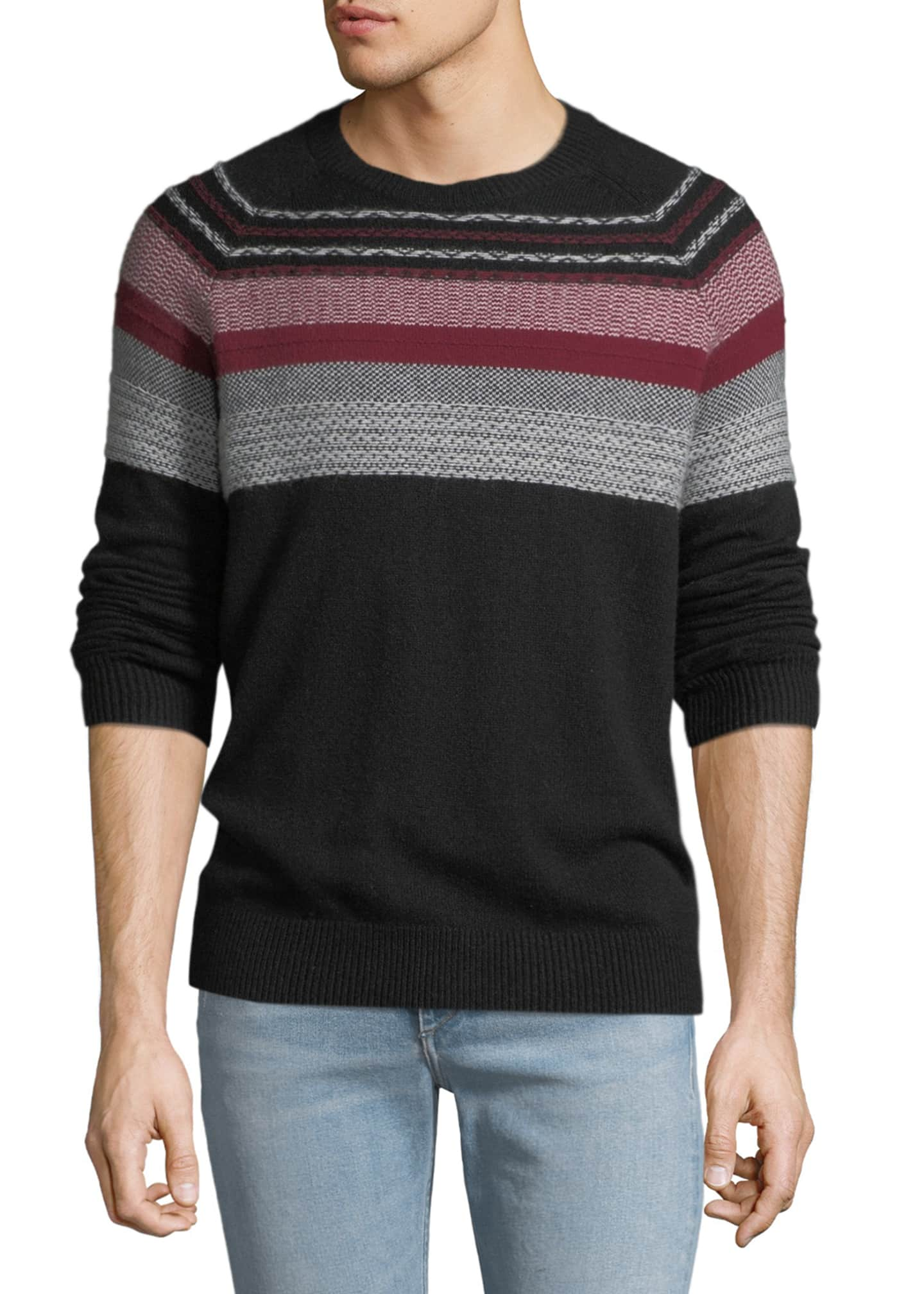 ATM Anthony Thomas Melillo Men's Merino Fair Isle