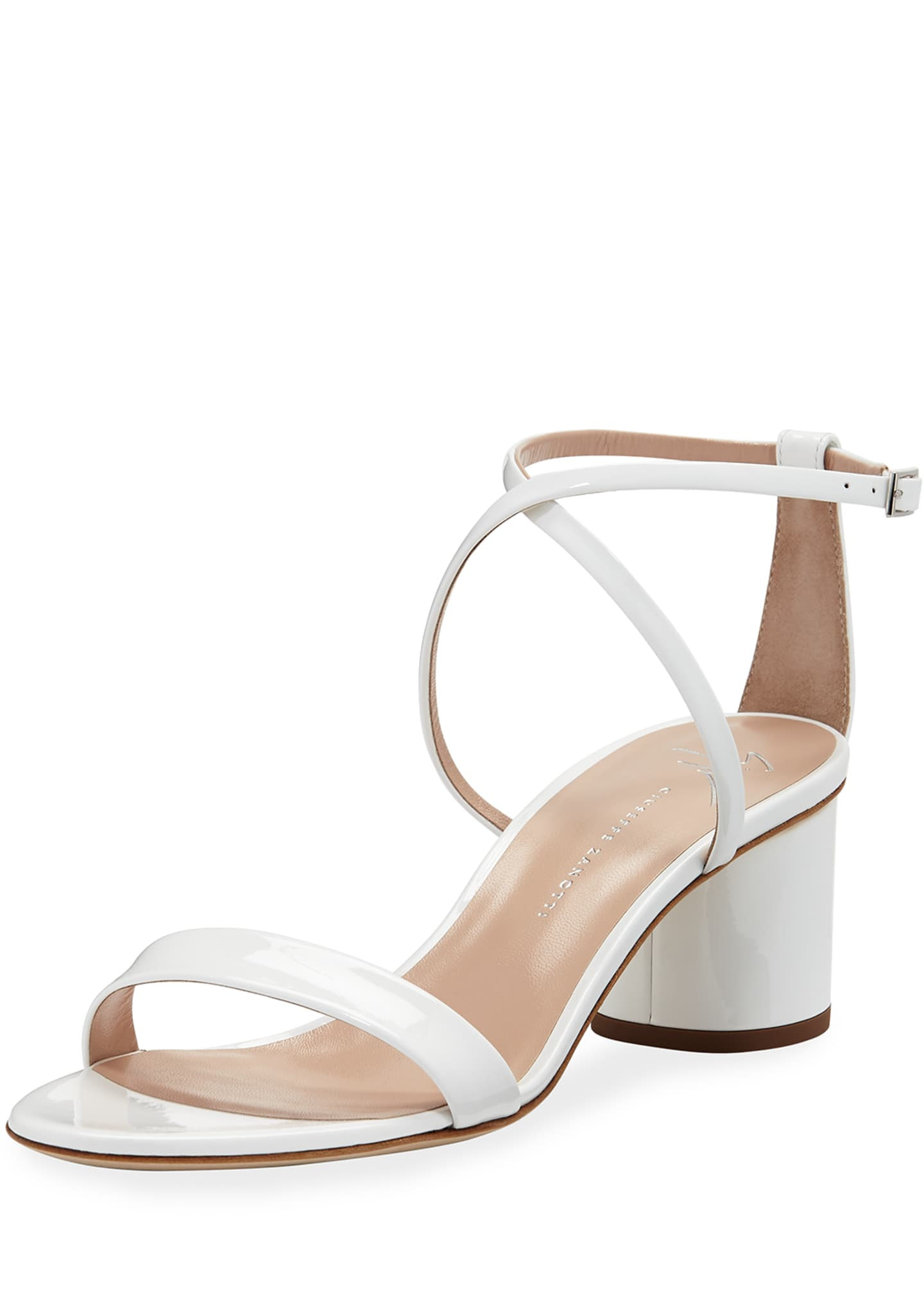 Giuseppe Zanotti Patent Leather Crisscross Sandals